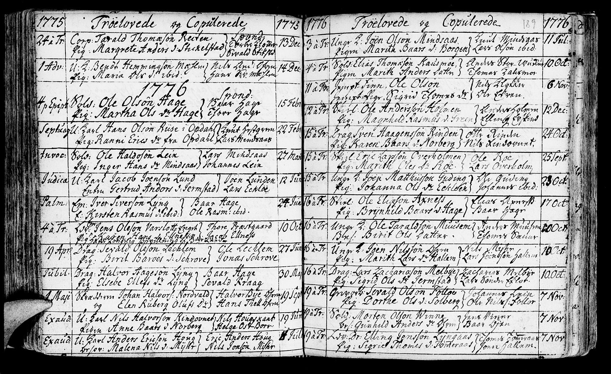 SAT, Ministerialprotokoller, klokkerbøker og fødselsregistre - Nord-Trøndelag, 723/L0231: Ministerialbok nr. 723A02, 1748-1780, s. 189