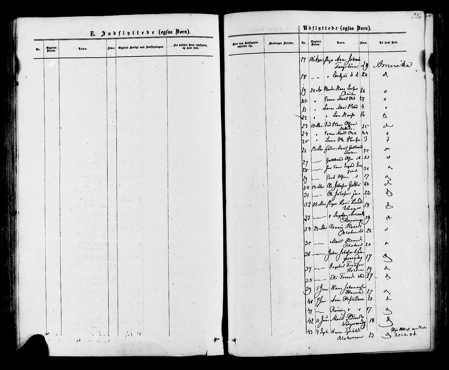 SAH, Lom prestekontor, K/L0007: Ministerialbok nr. 7, 1863-1884, s. 336