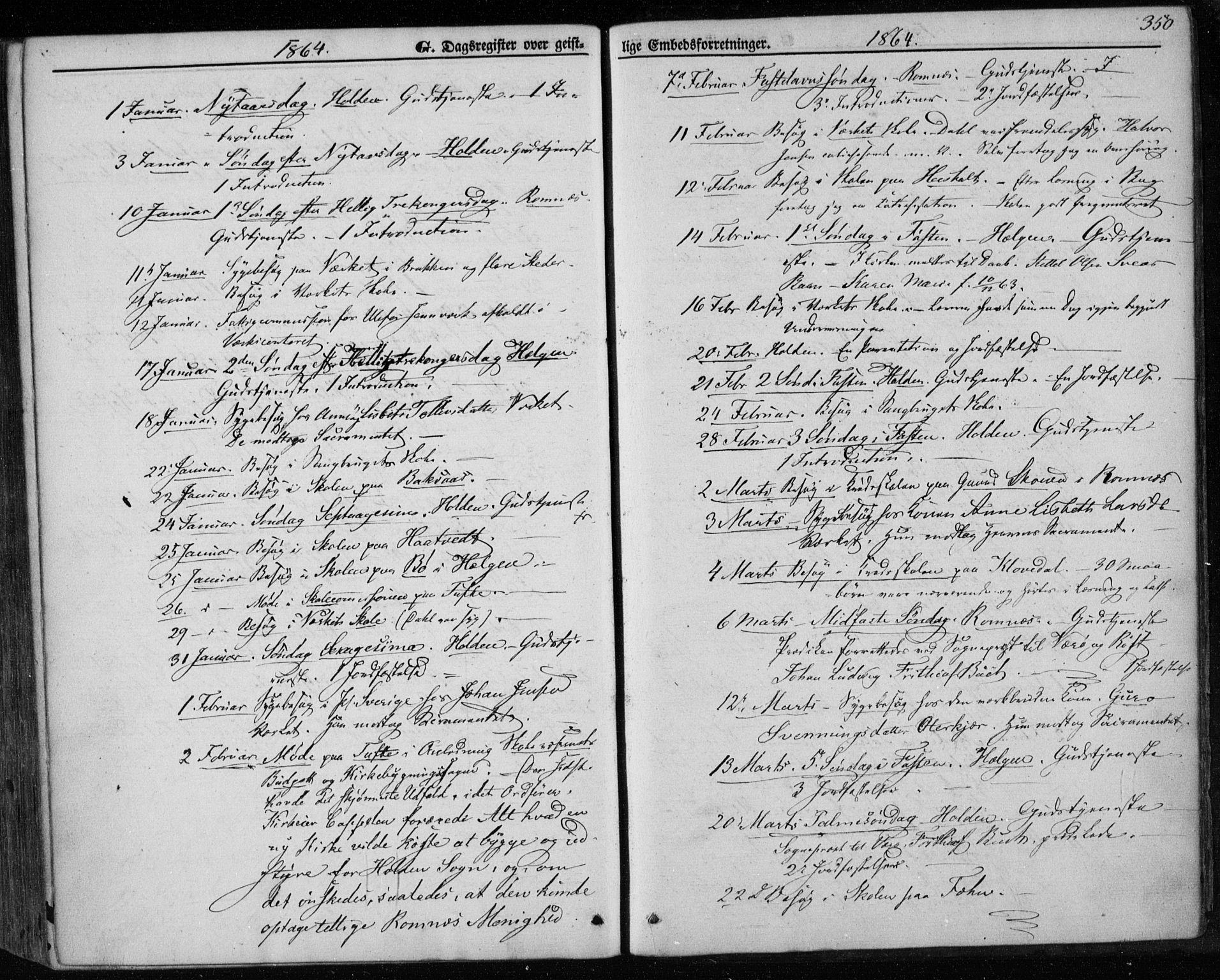 SAKO, Holla kirkebøker, F/Fa/L0006: Ministerialbok nr. 6, 1861-1869, s. 350