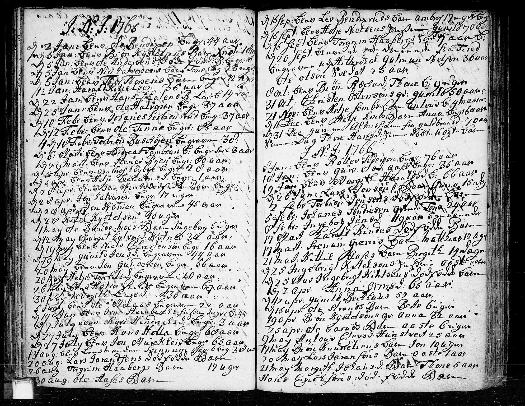 SAKO, Heddal kirkebøker, F/Fa/L0003: Ministerialbok nr. I 3, 1723-1783, s. 155
