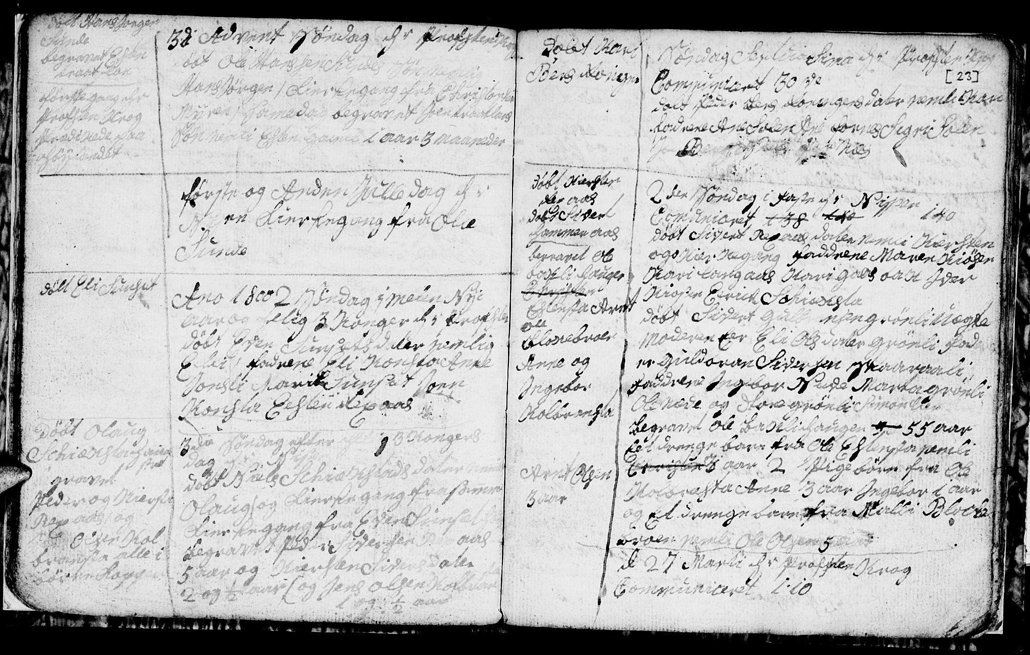 SAT, Ministerialprotokoller, klokkerbøker og fødselsregistre - Sør-Trøndelag, 694/L1129: Klokkerbok nr. 694C01, 1793-1815, s. 23