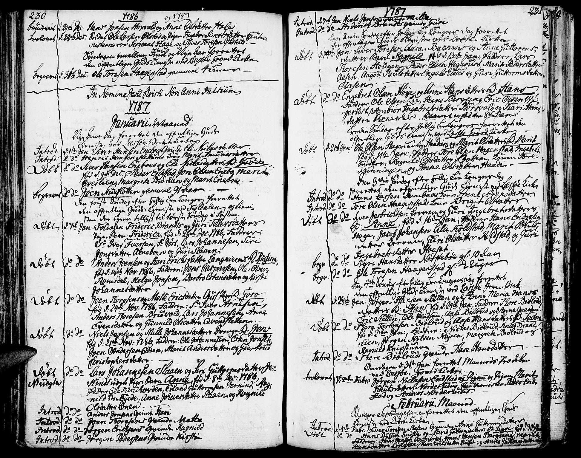 SAH, Lesja prestekontor, Ministerialbok nr. 3, 1777-1819, s. 230-231