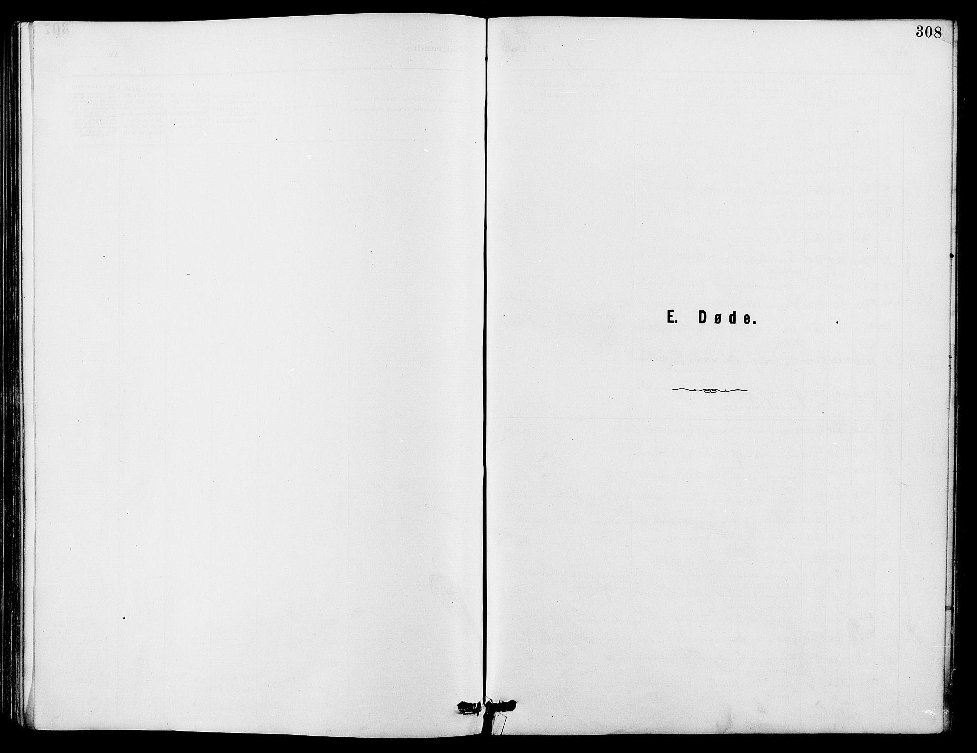 SAH, Dovre prestekontor, Klokkerbok nr. 2, 1881-1907, s. 308