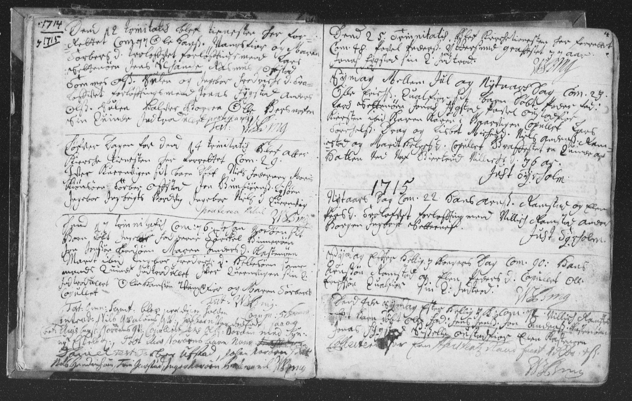 SAT, Ministerialprotokoller, klokkerbøker og fødselsregistre - Nord-Trøndelag, 786/L0685: Ministerialbok nr. 786A01, 1710-1798, s. 4