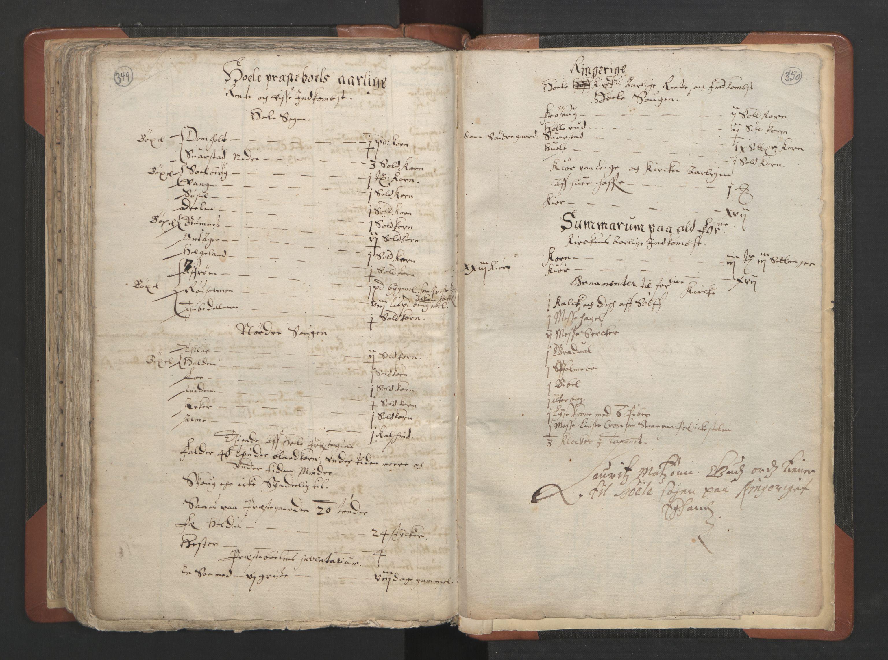 RA, Sogneprestenes manntall 1664-1666, nr. 7: Hadeland prosti, 1664-1666, s. 349-350