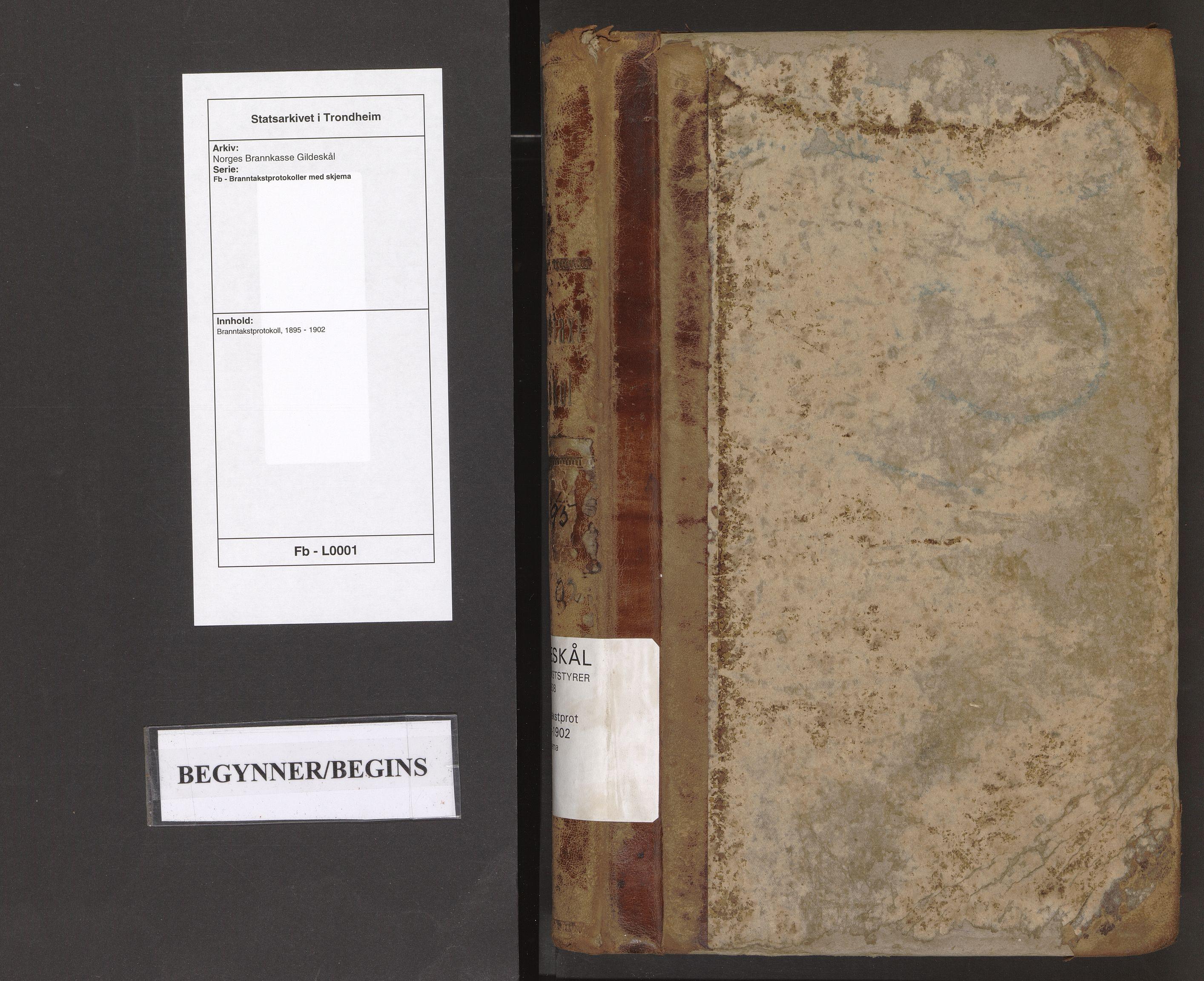 SAT, Norges Brannkasse Gildeskål, Fb/L0001: Branntakstprotokoll, 1895-1902