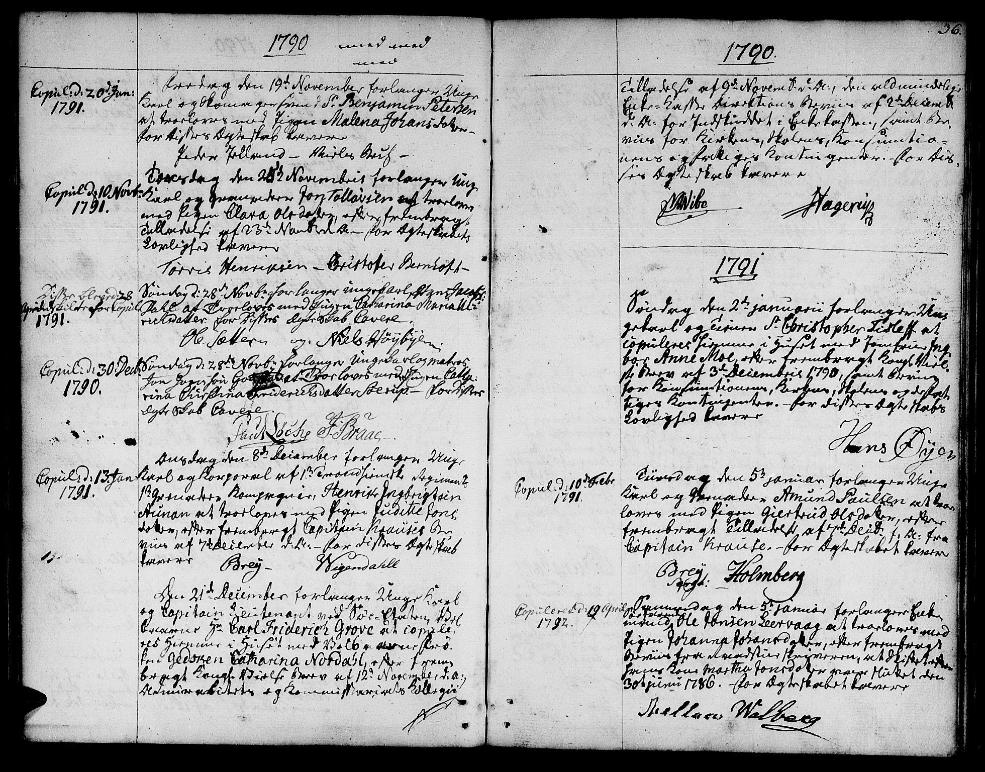SAT, Ministerialprotokoller, klokkerbøker og fødselsregistre - Sør-Trøndelag, 601/L0041: Ministerialbok nr. 601A09, 1784-1801, s. 36