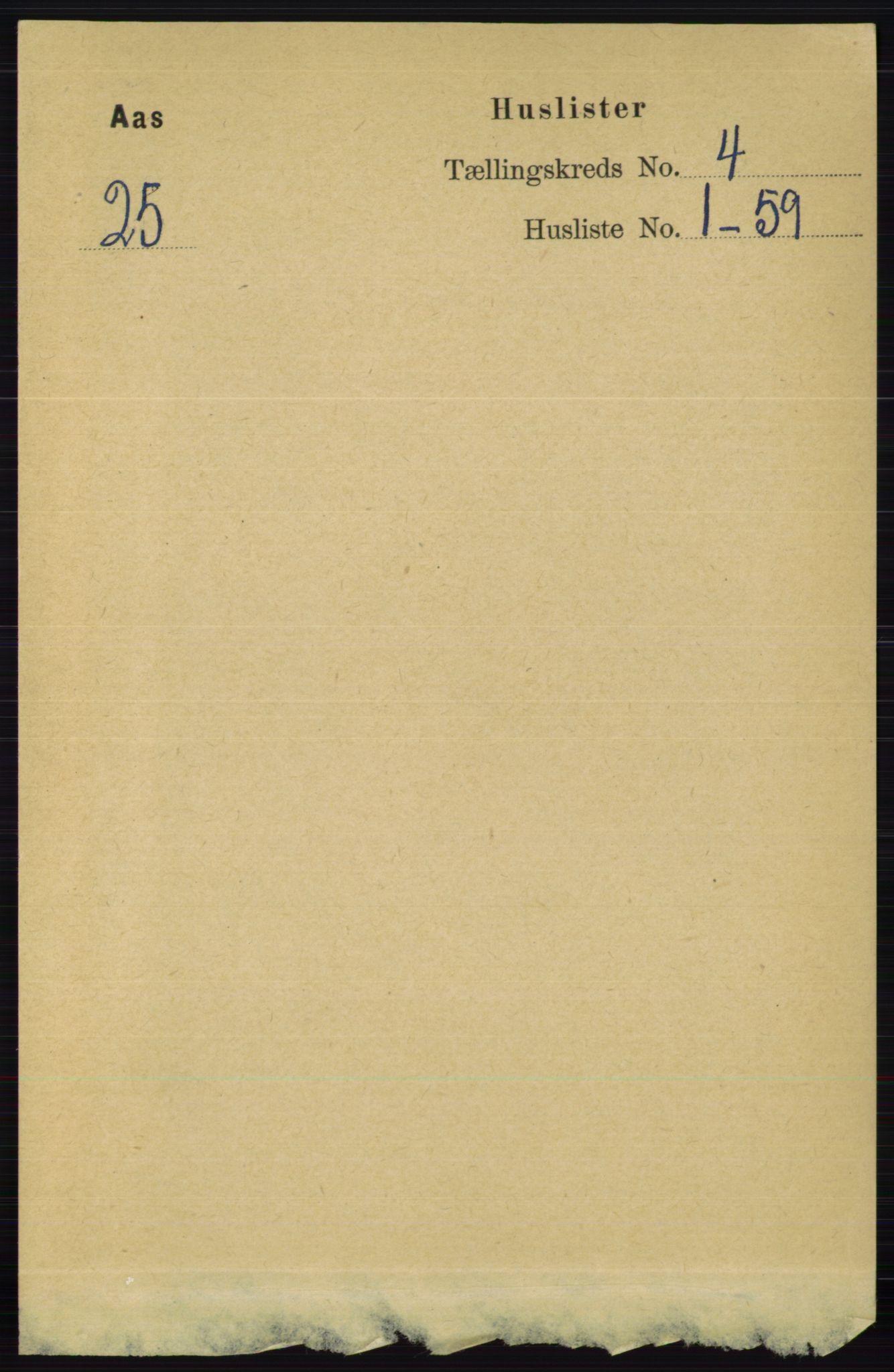 RA, Folketelling 1891 for 0214 Ås herred, 1891, s. 2982