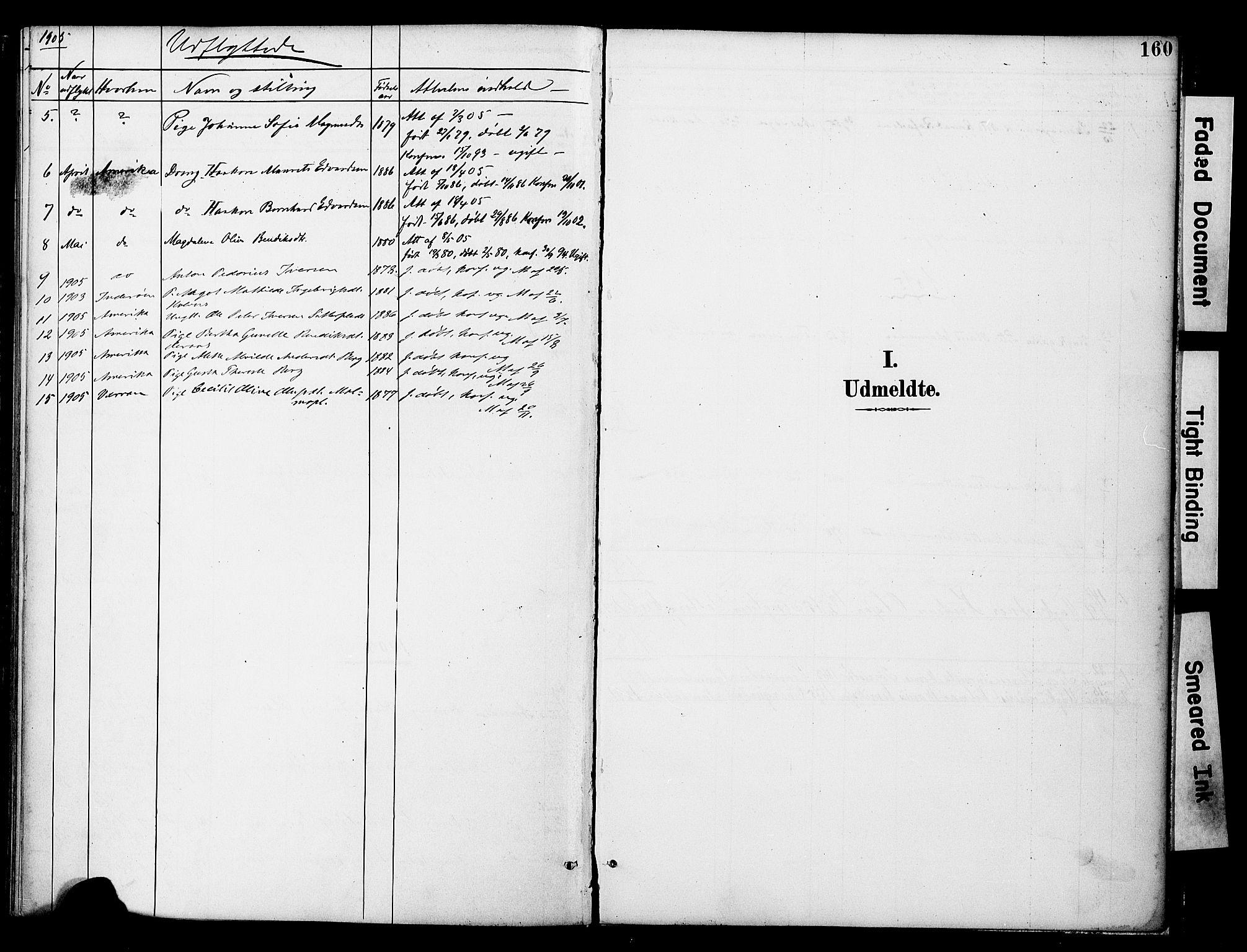 SAT, Ministerialprotokoller, klokkerbøker og fødselsregistre - Nord-Trøndelag, 742/L0409: Ministerialbok nr. 742A02, 1891-1905, s. 160