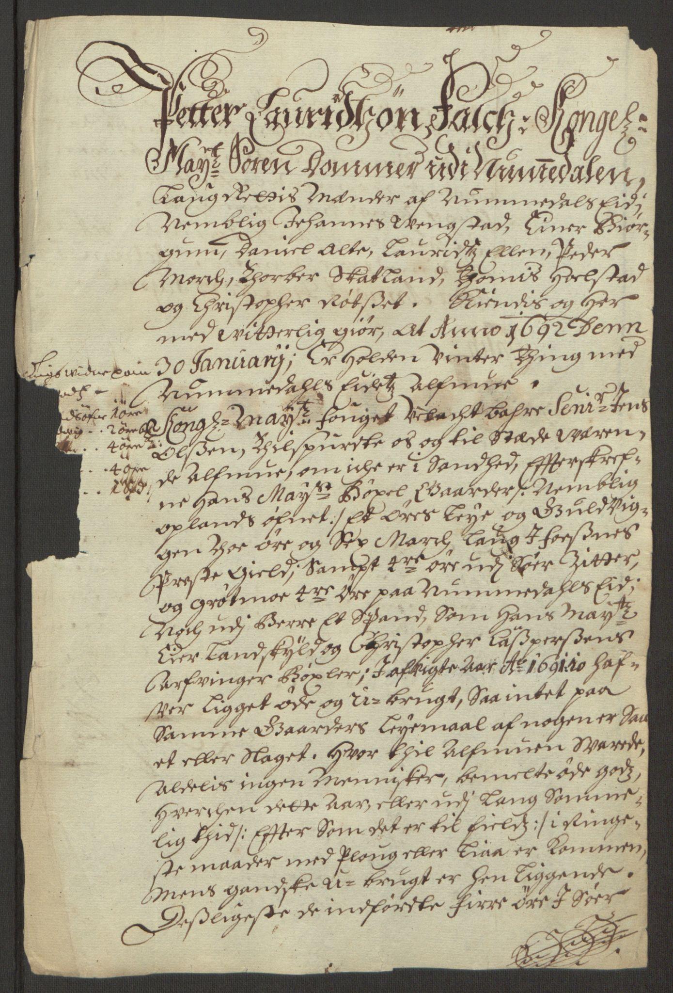 RA, Rentekammeret inntil 1814, Reviderte regnskaper, Fogderegnskap, R64/L4423: Fogderegnskap Namdal, 1690-1691, s. 364