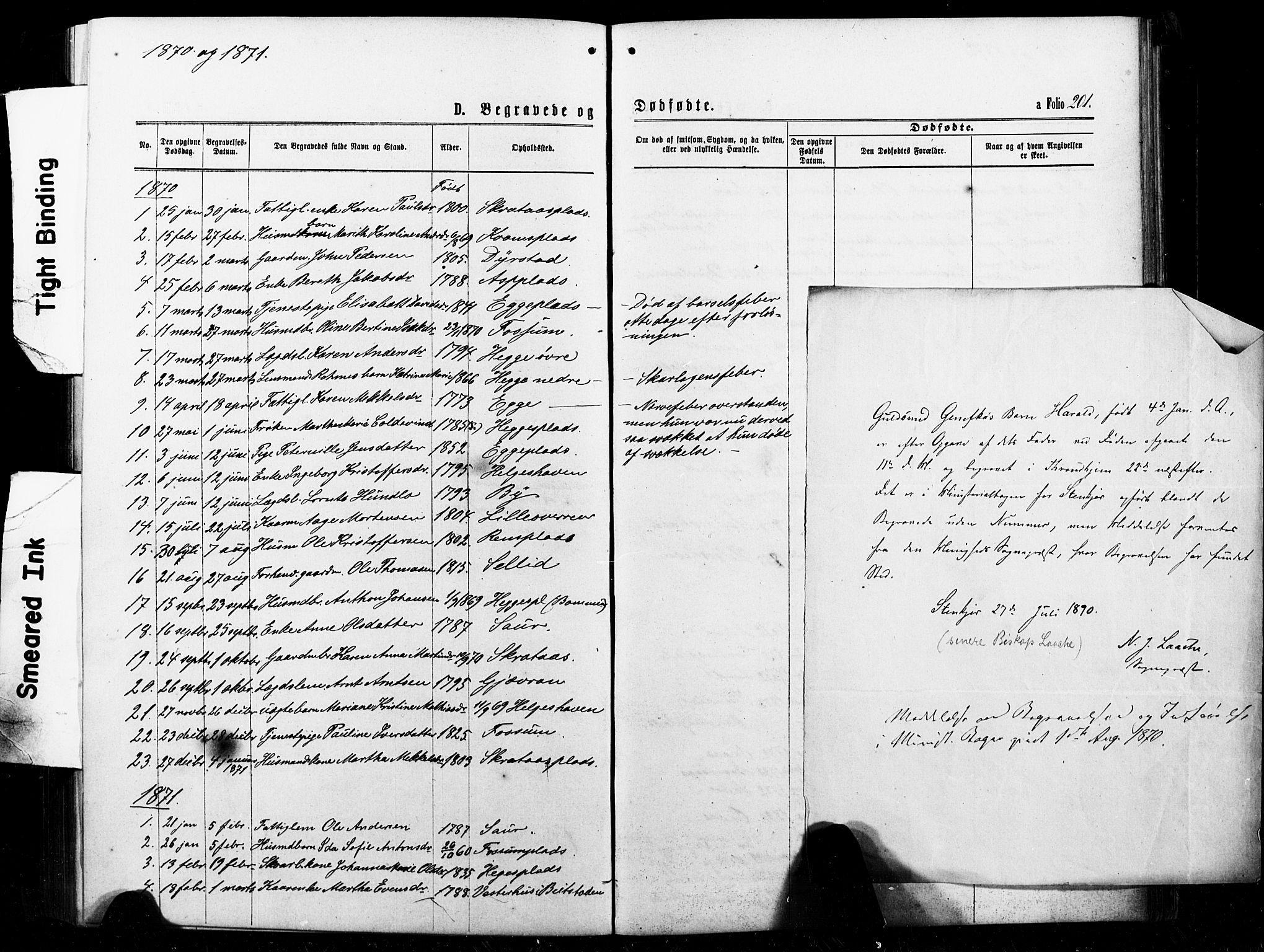SAT, Ministerialprotokoller, klokkerbøker og fødselsregistre - Nord-Trøndelag, 740/L0380: Klokkerbok nr. 740C01, 1868-1902, s. 201