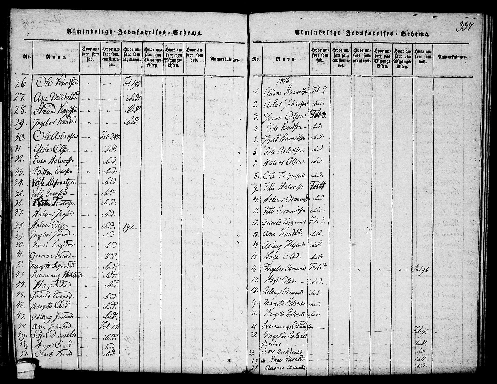 SAKO, Seljord kirkebøker, F/Fc/L0001: Ministerialbok nr. III 1, 1815-1831, s. 337