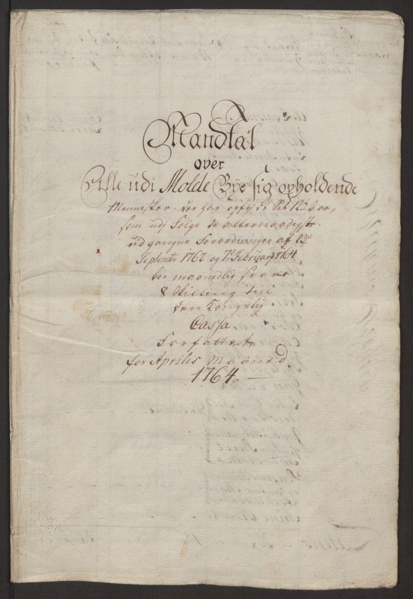 RA, Rentekammeret inntil 1814, Reviderte regnskaper, Byregnskaper, R/Rq/L0487: [Q1] Kontribusjonsregnskap, 1762-1772, s. 78