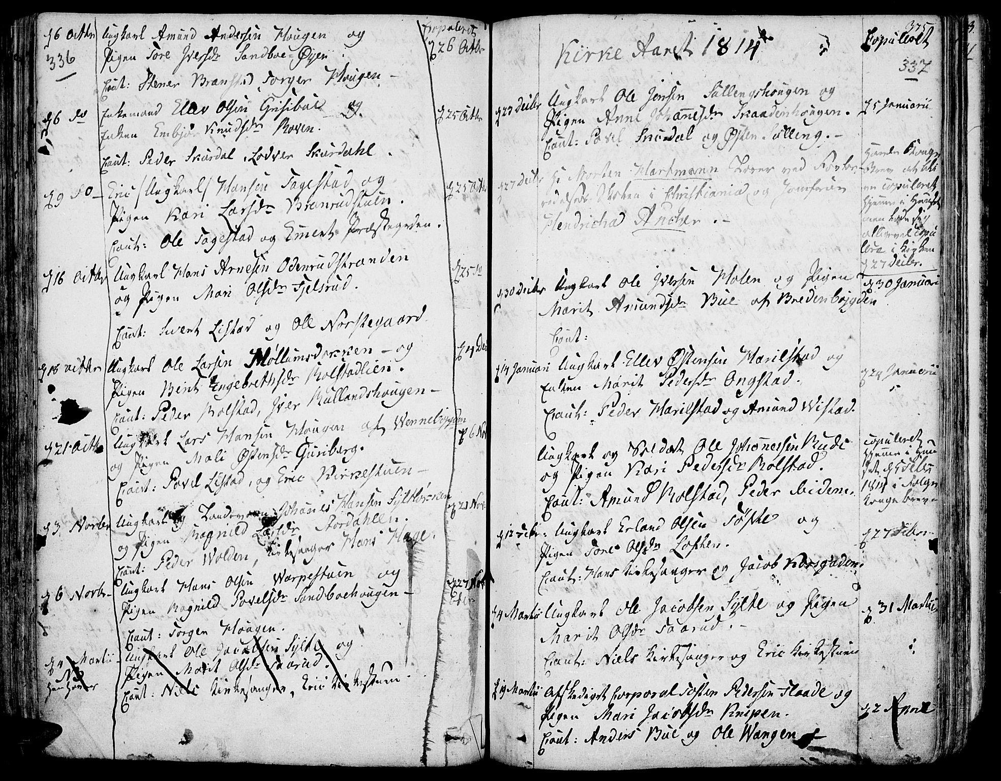 SAH, Fron prestekontor, H/Ha/Haa/L0001: Ministerialbok nr. 1, 1799-1816, s. 336-337
