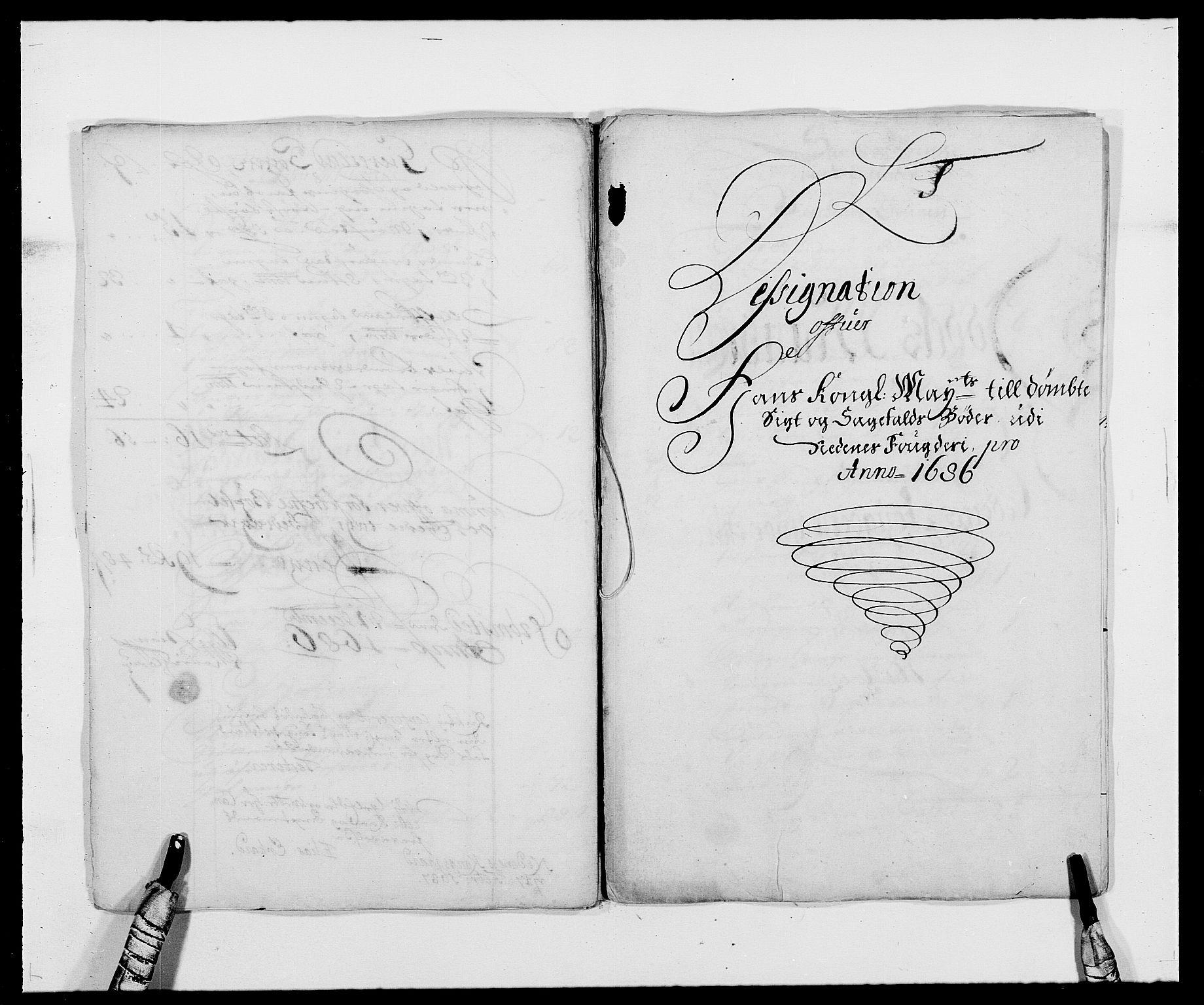 RA, Rentekammeret inntil 1814, Reviderte regnskaper, Fogderegnskap, R39/L2308: Fogderegnskap Nedenes, 1684-1689, s. 343