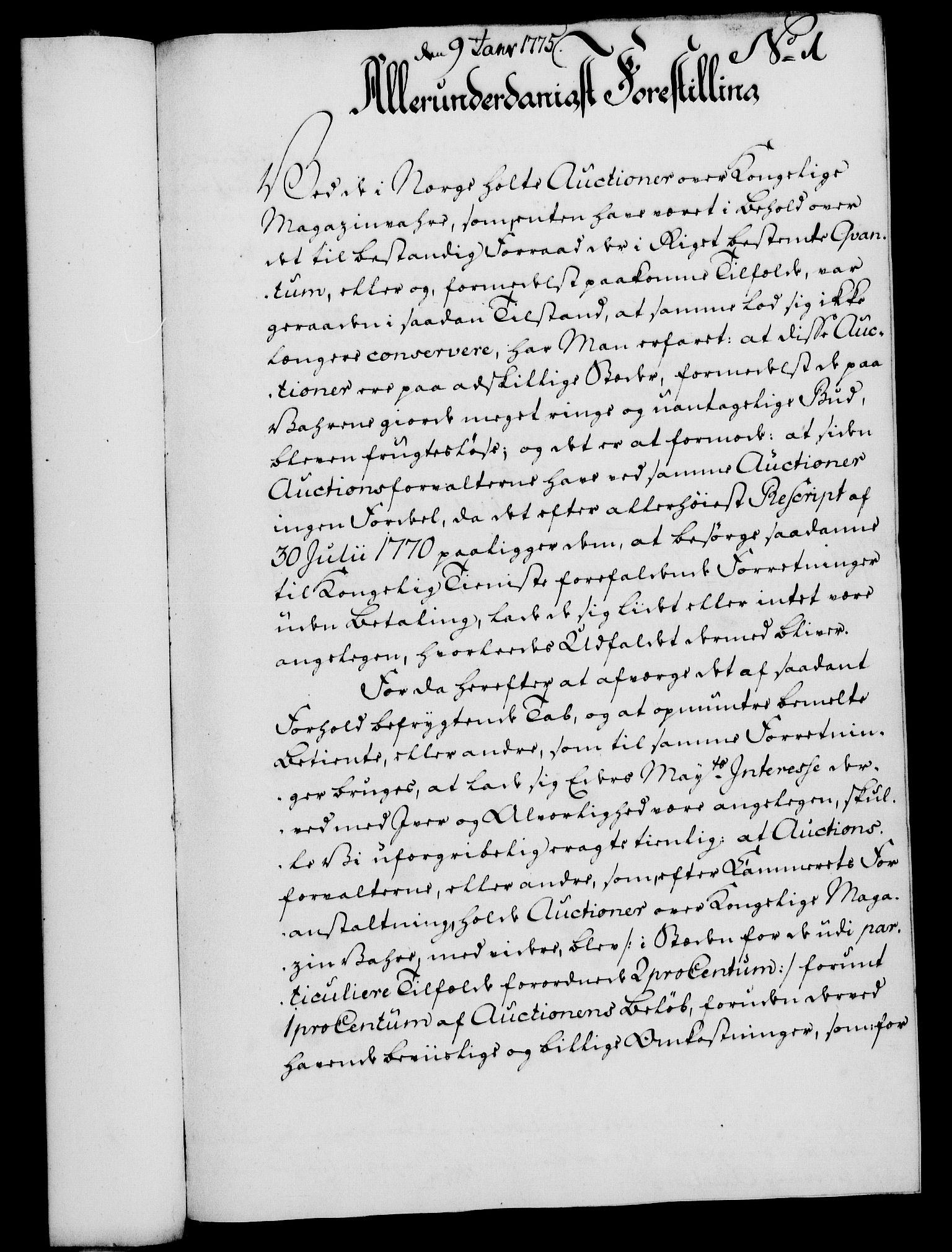 RA, Rentekammeret, Kammerkanselliet, G/Gf/Gfa/L0057: Norsk relasjons- og resolusjonsprotokoll (merket RK 52.57), 1775, s. 28