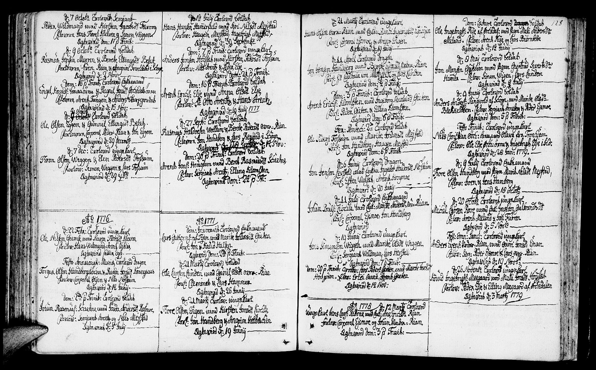 SAT, Ministerialprotokoller, klokkerbøker og fødselsregistre - Sør-Trøndelag, 665/L0768: Ministerialbok nr. 665A03, 1754-1803, s. 128