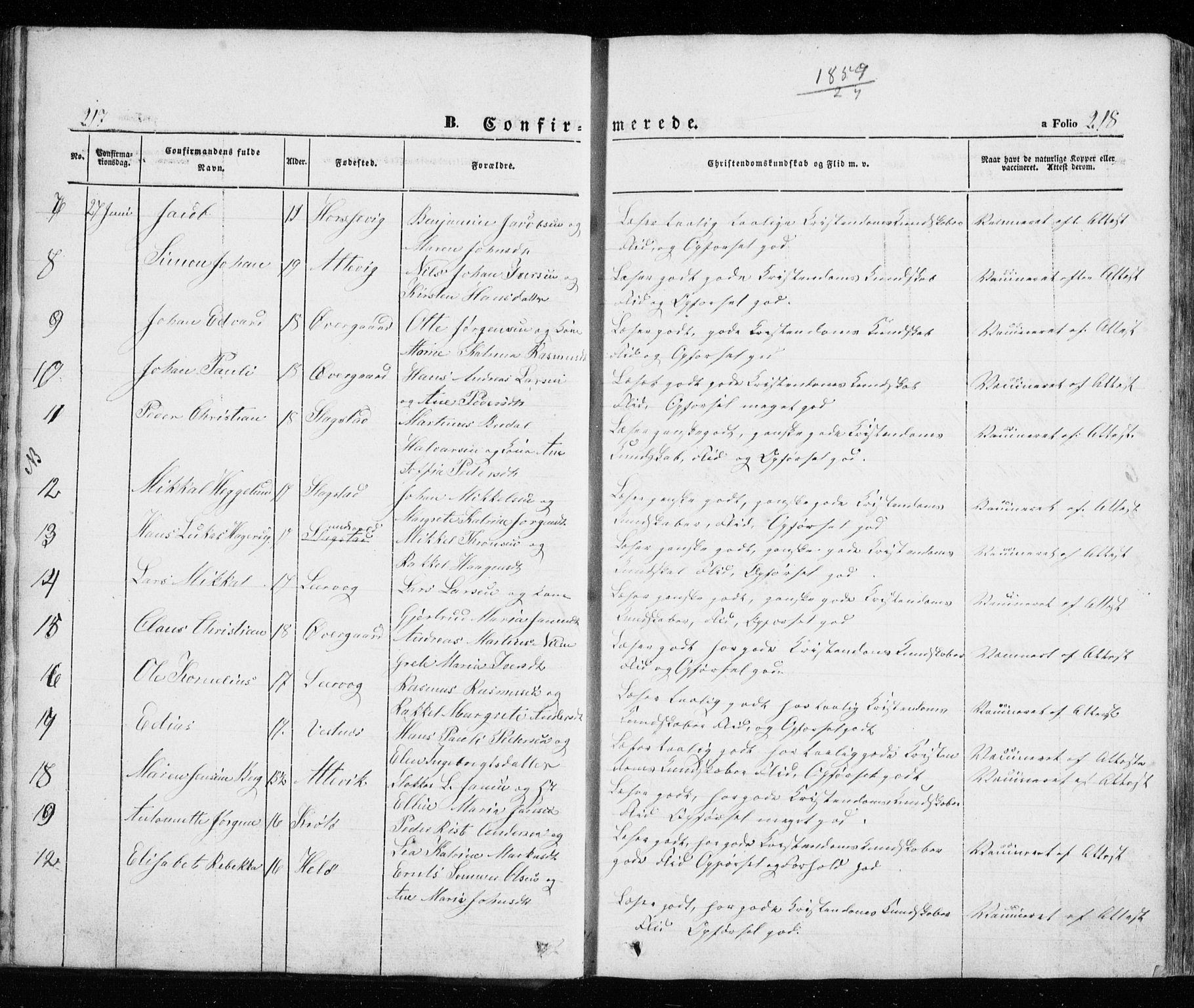 SATØ, Trondenes sokneprestkontor, H/Ha/L0010kirke: Ministerialbok nr. 10, 1840-1865, s. 217-218