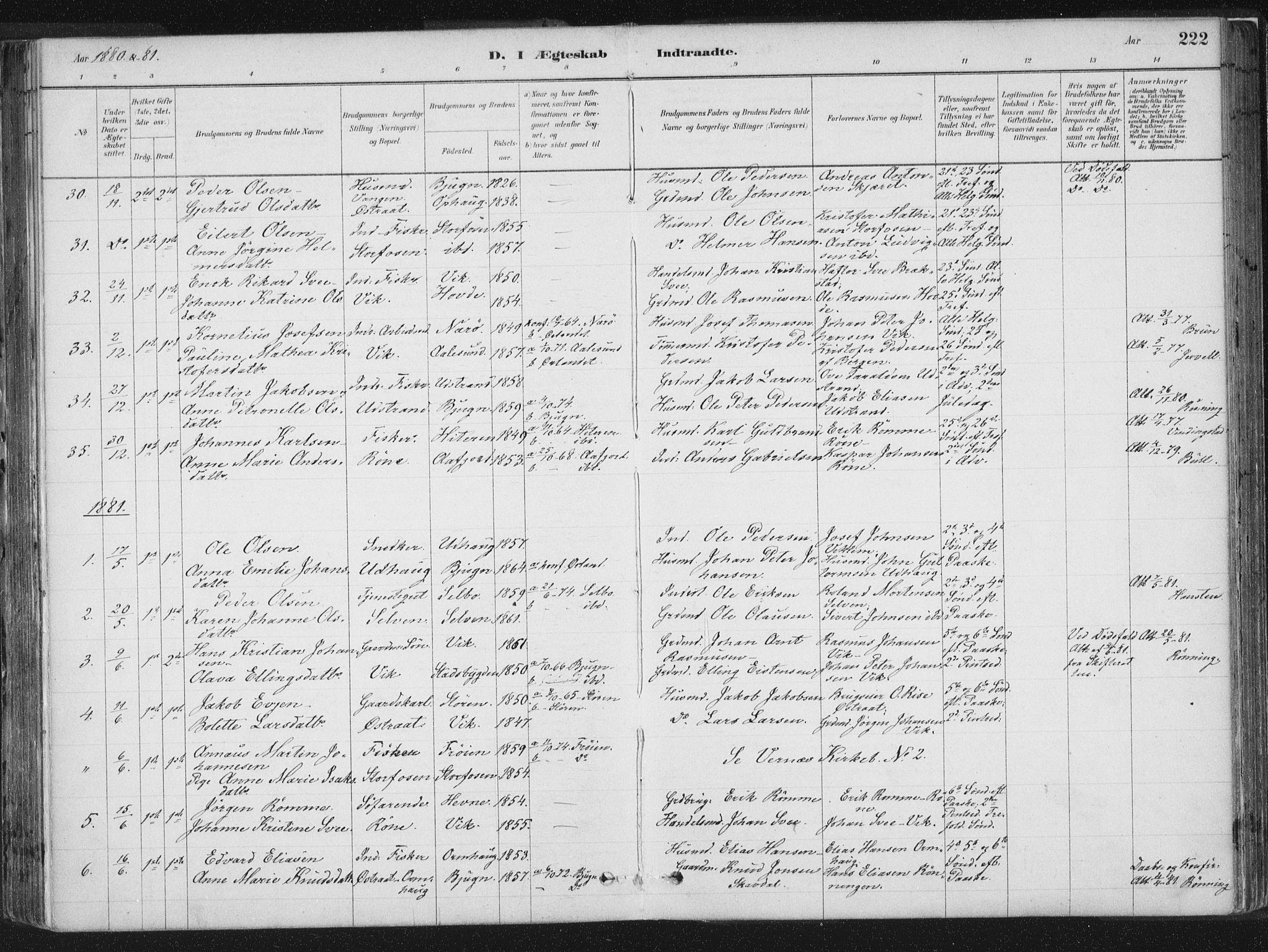 SAT, Ministerialprotokoller, klokkerbøker og fødselsregistre - Sør-Trøndelag, 659/L0739: Ministerialbok nr. 659A09, 1879-1893, s. 222