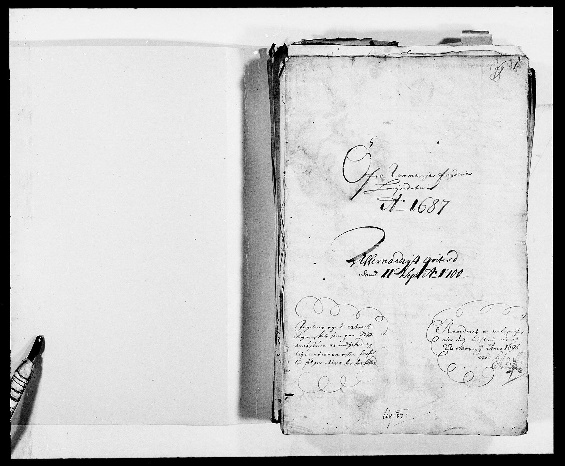 RA, Rentekammeret inntil 1814, Reviderte regnskaper, Fogderegnskap, R12/L0700: Fogderegnskap Øvre Romerike, 1687-1688, s. 2