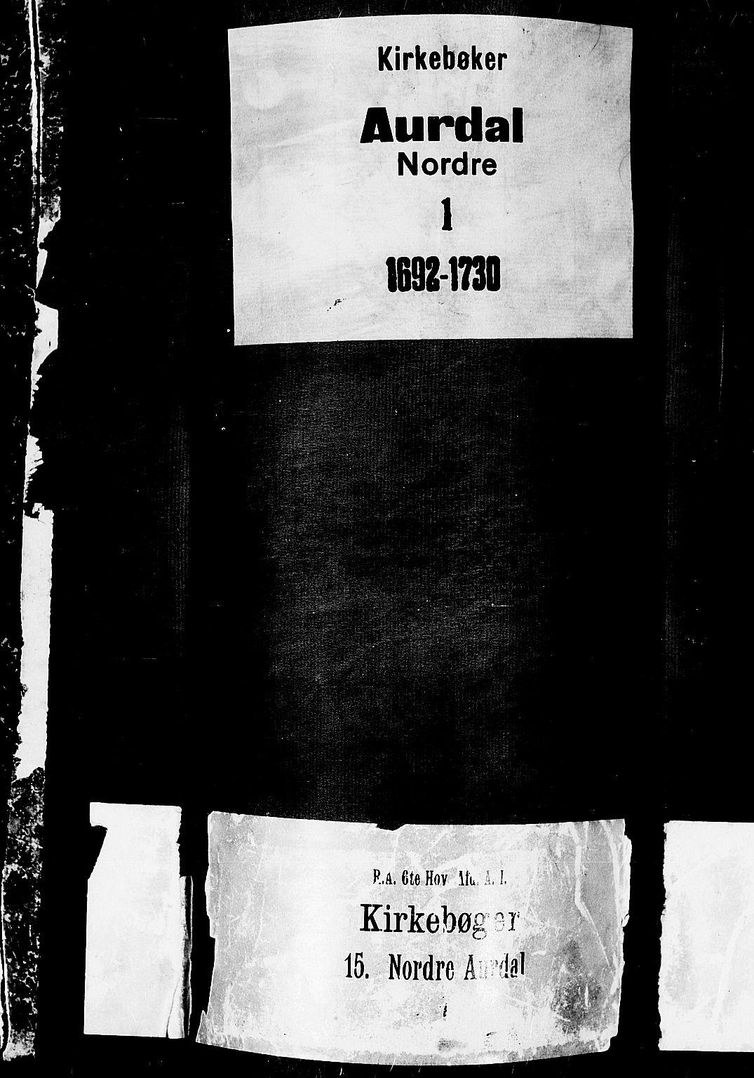 SAH, Aurdal prestekontor, Ministerialbok nr. 1-3, 1692-1730