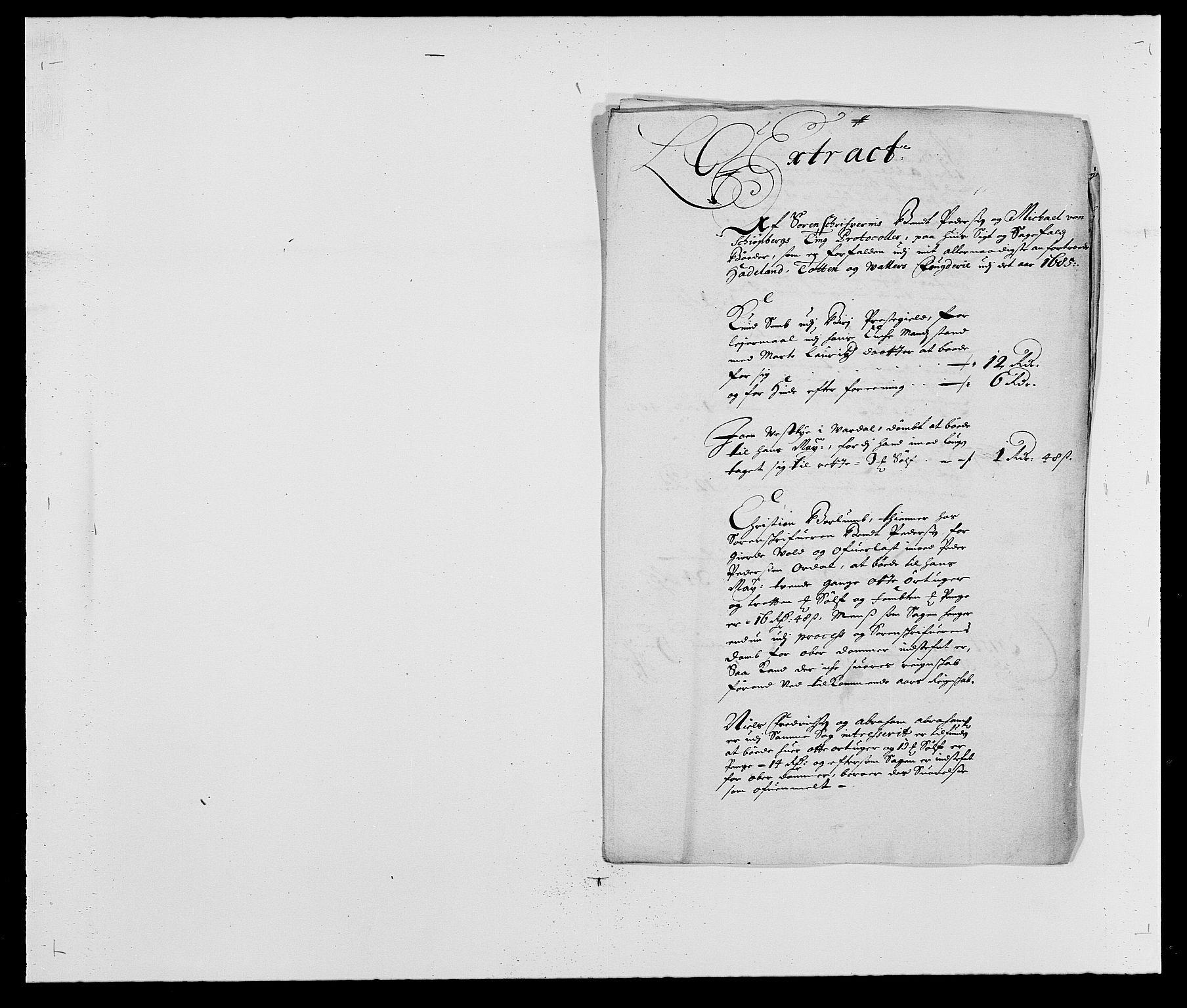 RA, Rentekammeret inntil 1814, Reviderte regnskaper, Fogderegnskap, R18/L1284: Fogderegnskap Hadeland, Toten og Valdres, 1685, s. 130