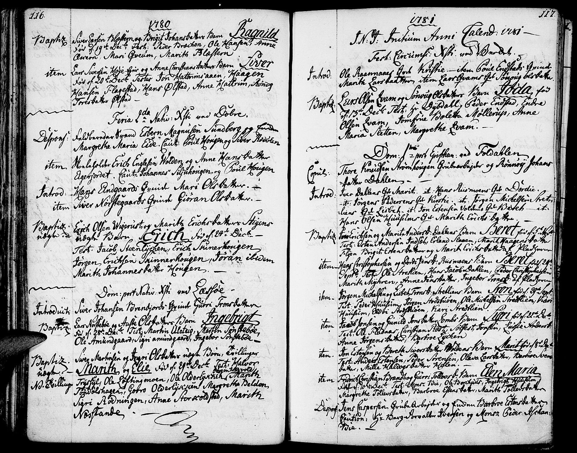 SAH, Lesja prestekontor, Ministerialbok nr. 3, 1777-1819, s. 116-117