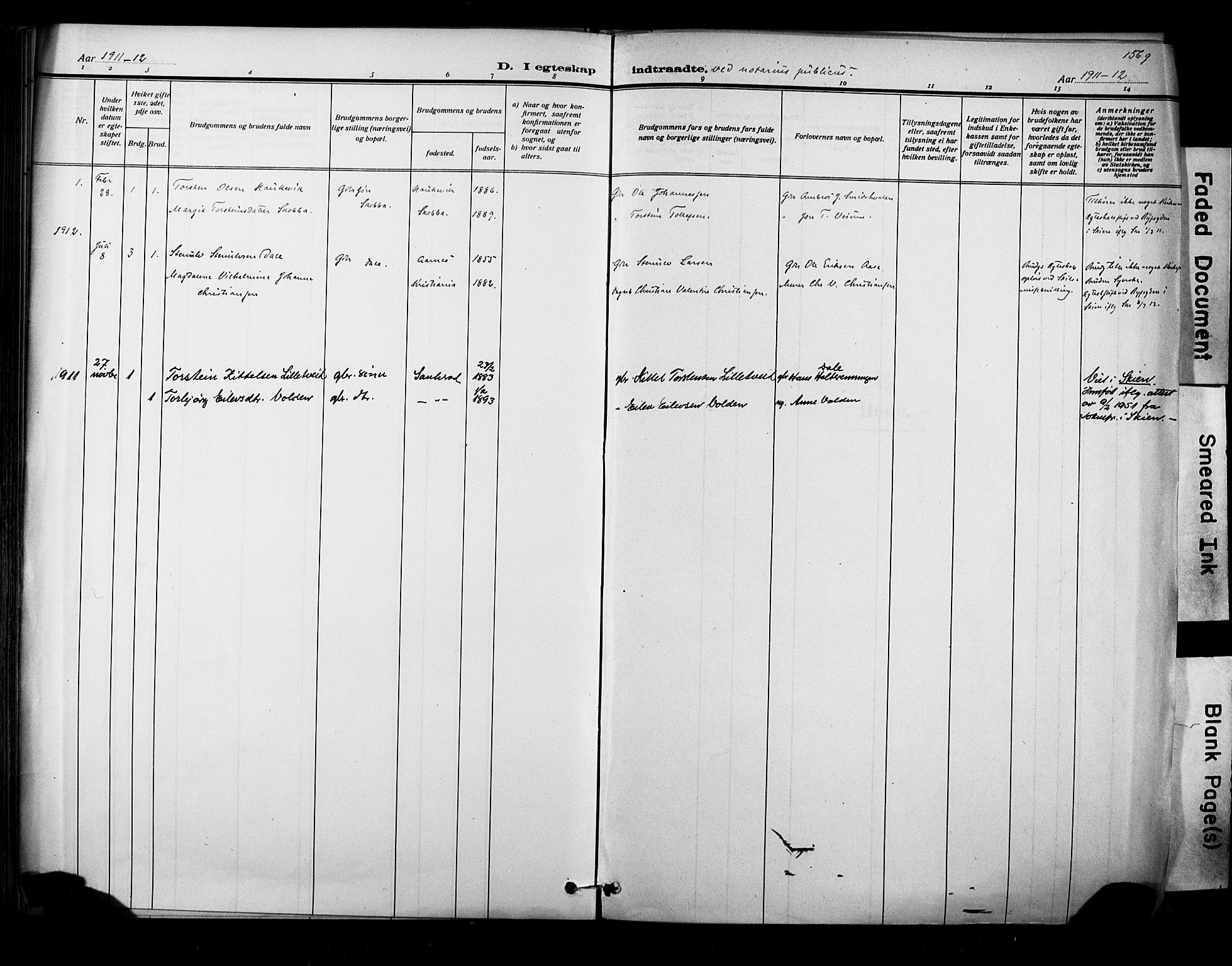 SAKO, Sauherad kirkebøker, F/Fa/L0009: Ministerialbok nr. I 9, 1887-1912, s. 156