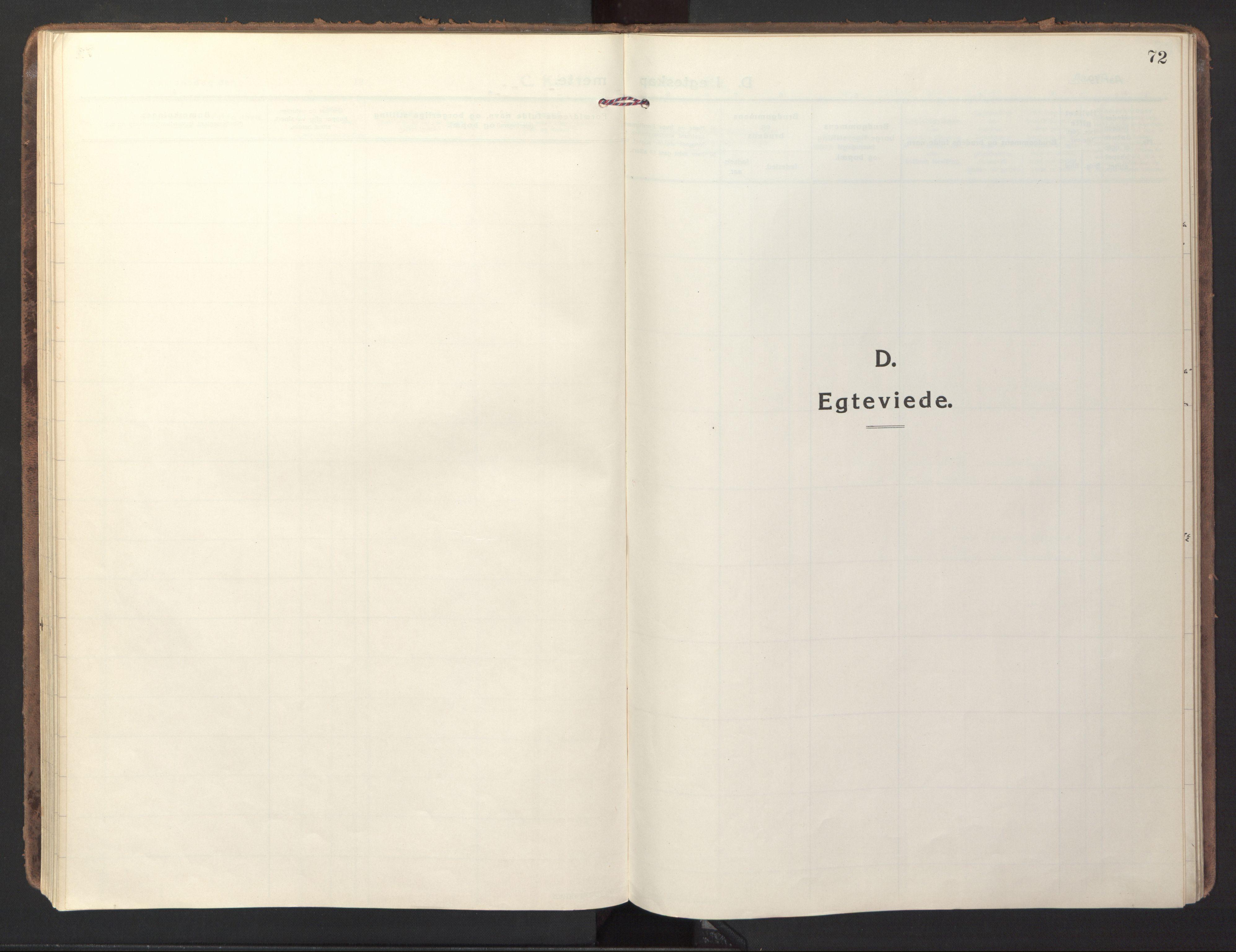 SAT, Ministerialprotokoller, klokkerbøker og fødselsregistre - Sør-Trøndelag, 618/L0449: Ministerialbok nr. 618A12, 1917-1924, s. 72