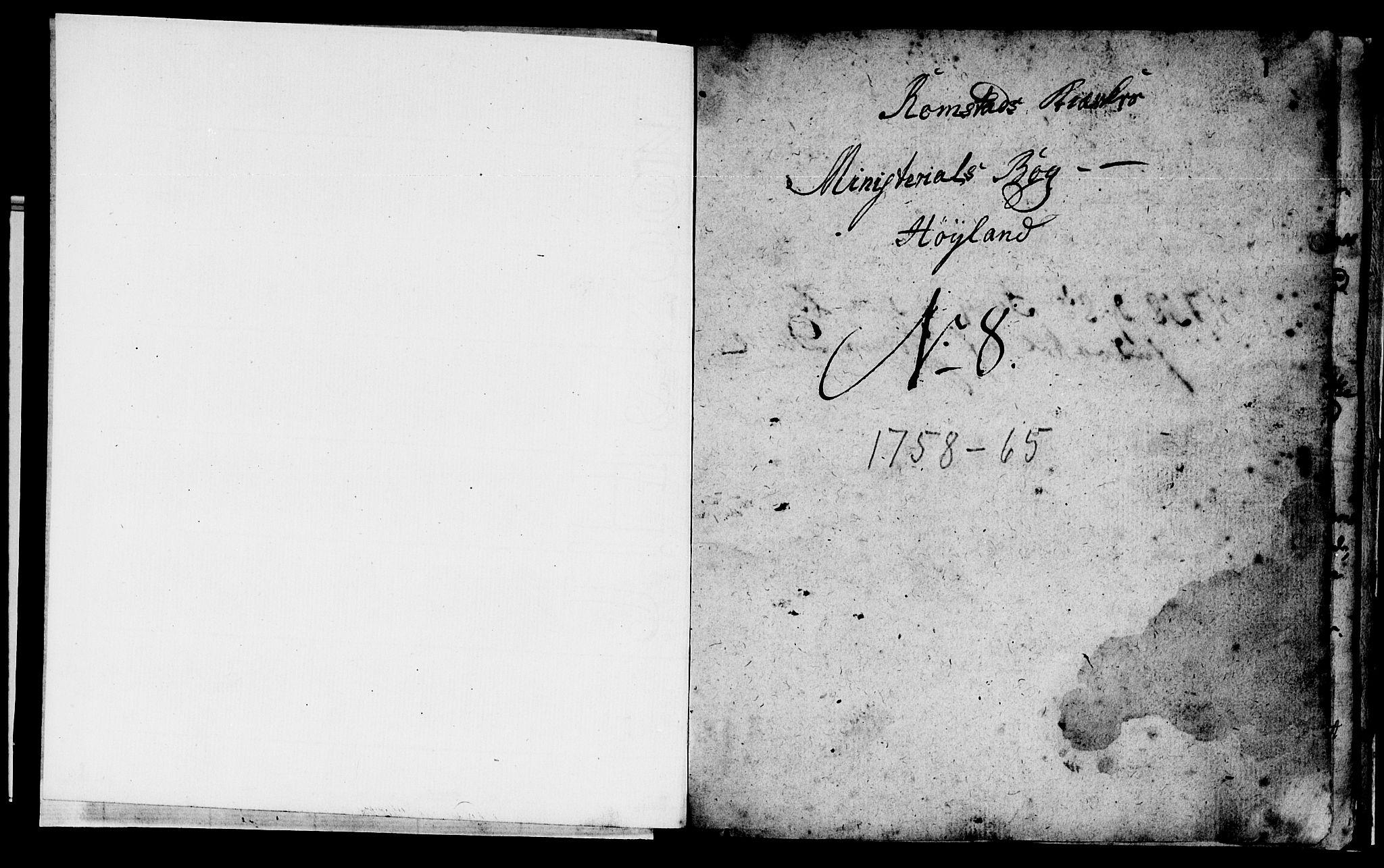 SAT, Ministerialprotokoller, klokkerbøker og fødselsregistre - Nord-Trøndelag, 765/L0561: Ministerialbok nr. 765A02, 1758-1765, s. 1