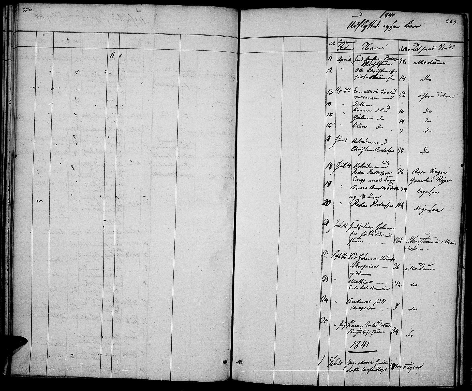 SAH, Vestre Toten prestekontor, Ministerialbok nr. 3, 1836-1843, s. 328-329
