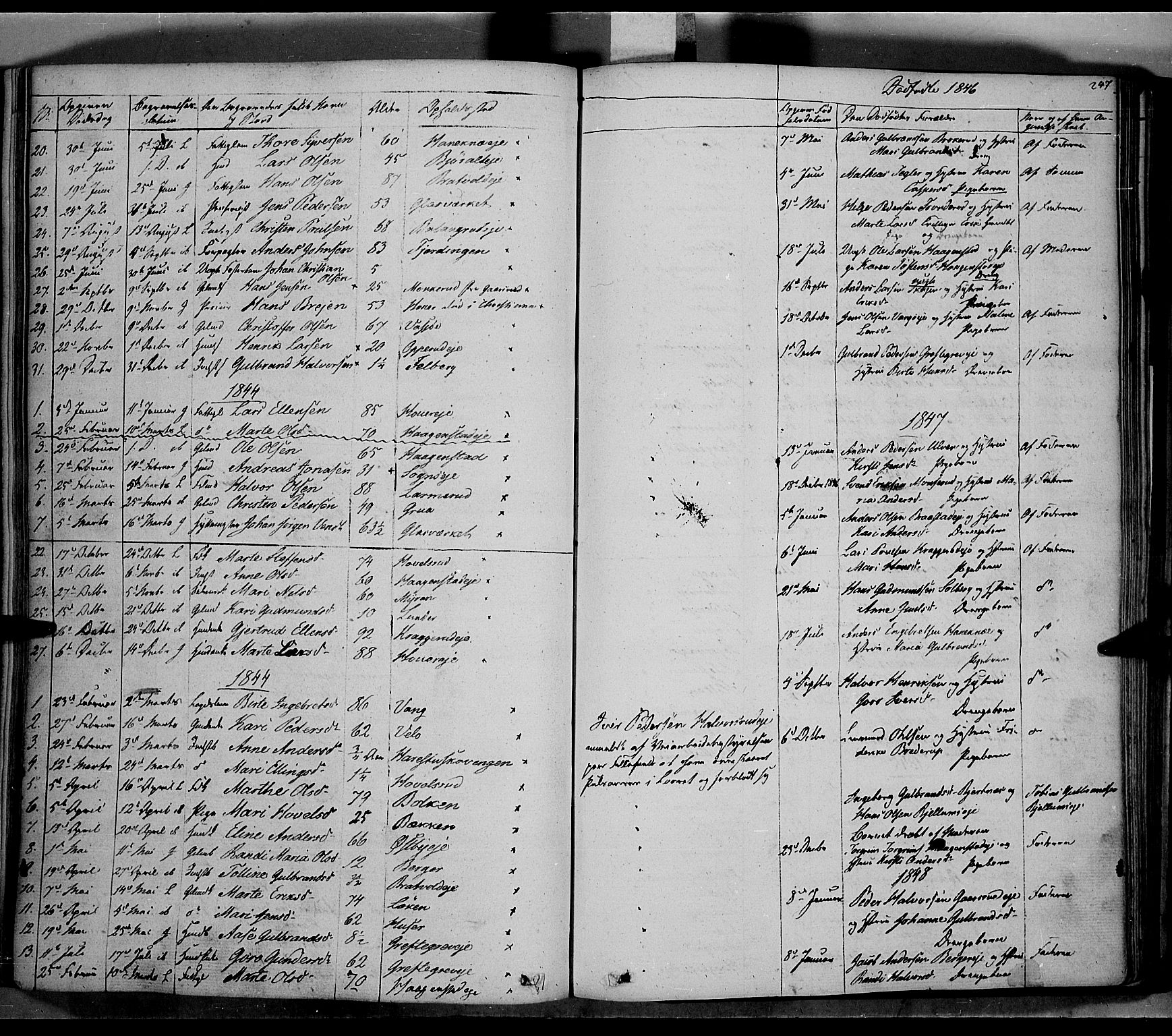 SAH, Jevnaker prestekontor, Ministerialbok nr. 6, 1837-1857, s. 247
