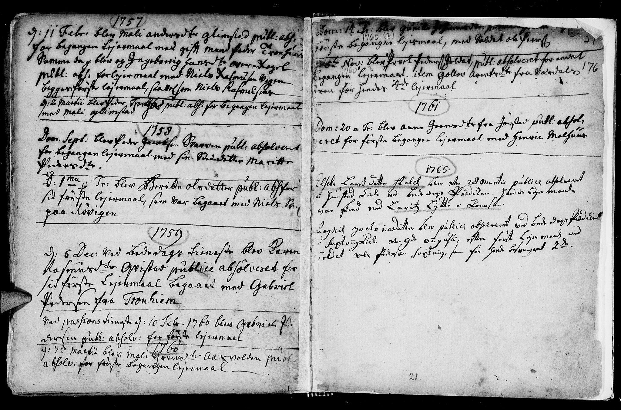 SAT, Ministerialprotokoller, klokkerbøker og fødselsregistre - Nord-Trøndelag, 730/L0272: Ministerialbok nr. 730A01, 1733-1764, s. 176