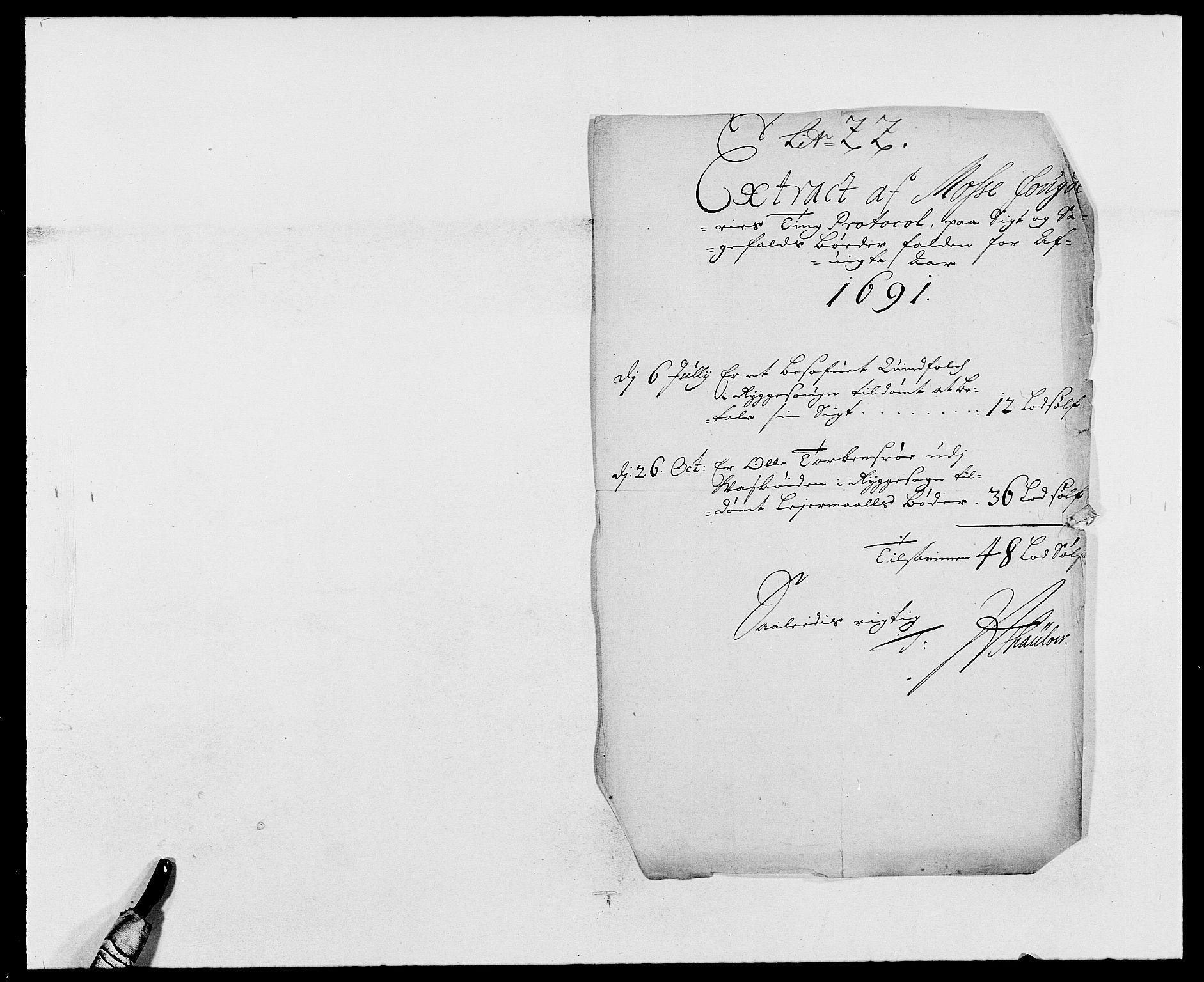 RA, Rentekammeret inntil 1814, Reviderte regnskaper, Fogderegnskap, R02/L0106: Fogderegnskap Moss og Verne kloster, 1688-1691, s. 483