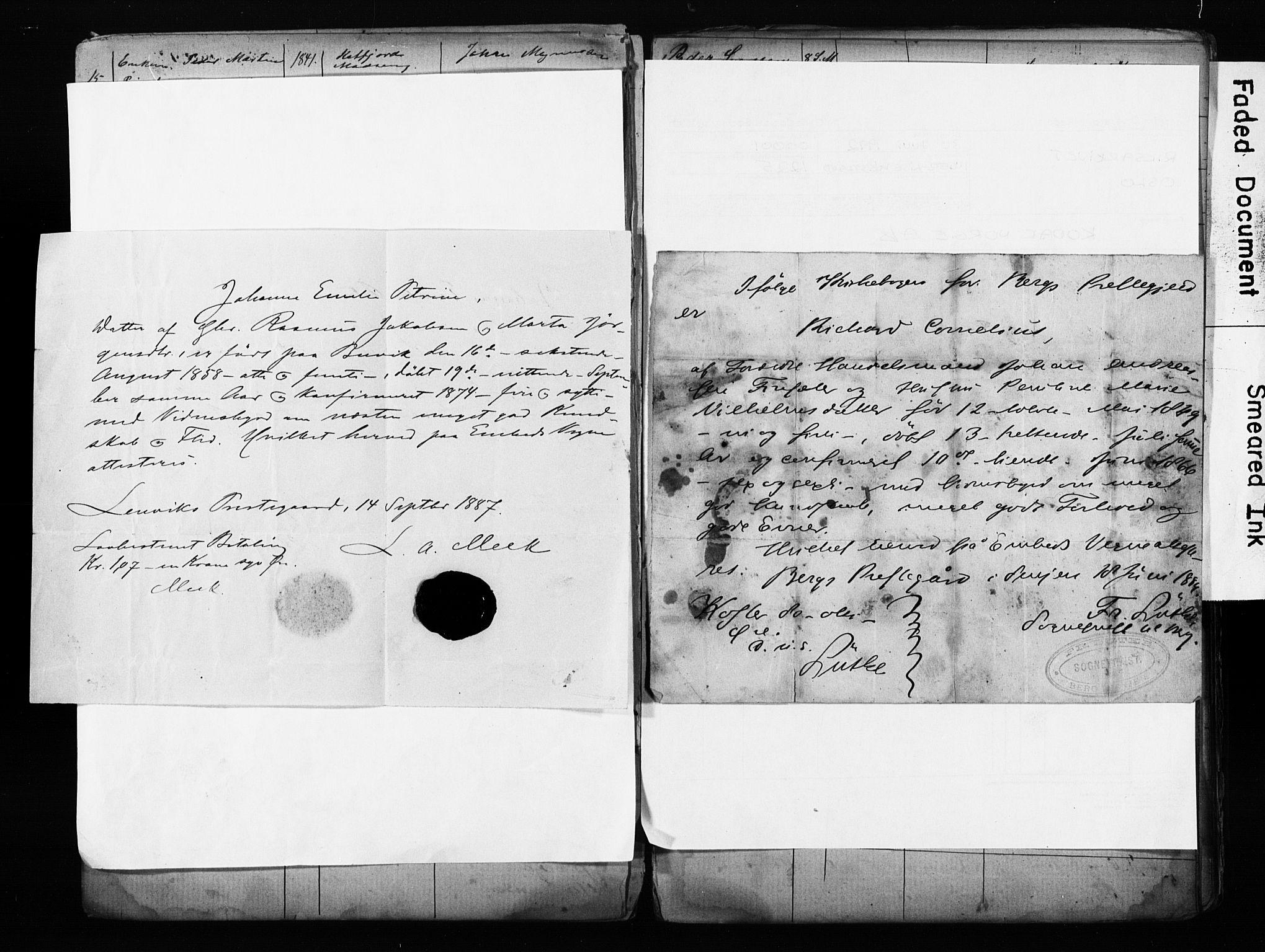 SATØ, Lenvik sokneprestembete, I/Ie/L0095: Lysningsprotokoll nr. 95, 1868-1890
