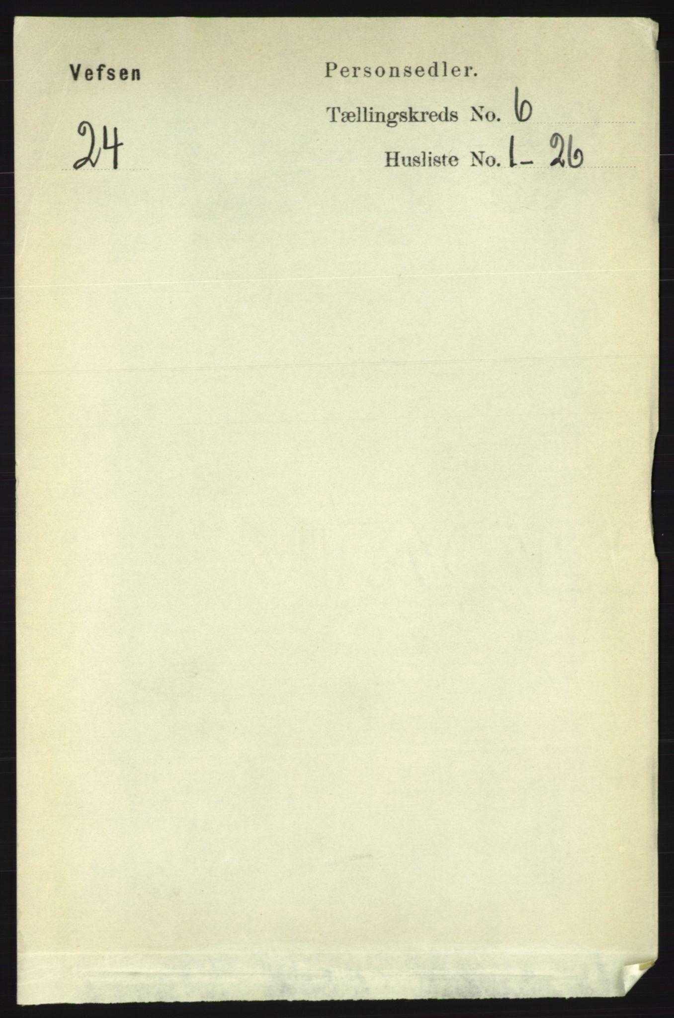 RA, Folketelling 1891 for 1824 Vefsn herred, 1891, s. 2806