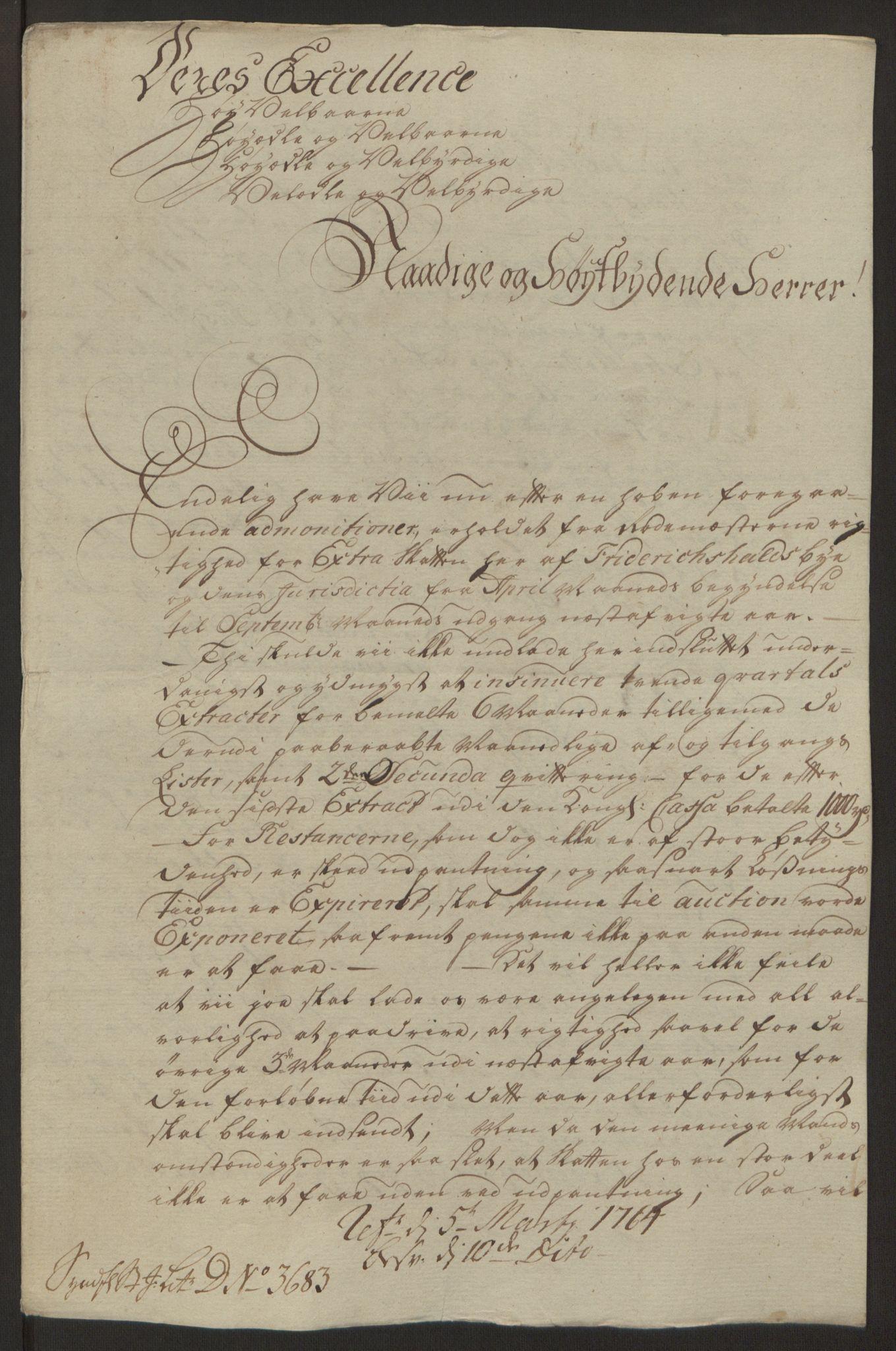 RA, Rentekammeret inntil 1814, Reviderte regnskaper, Byregnskaper, R/Ra/L0006: [A4] Kontribusjonsregnskap, 1762-1772, s. 98