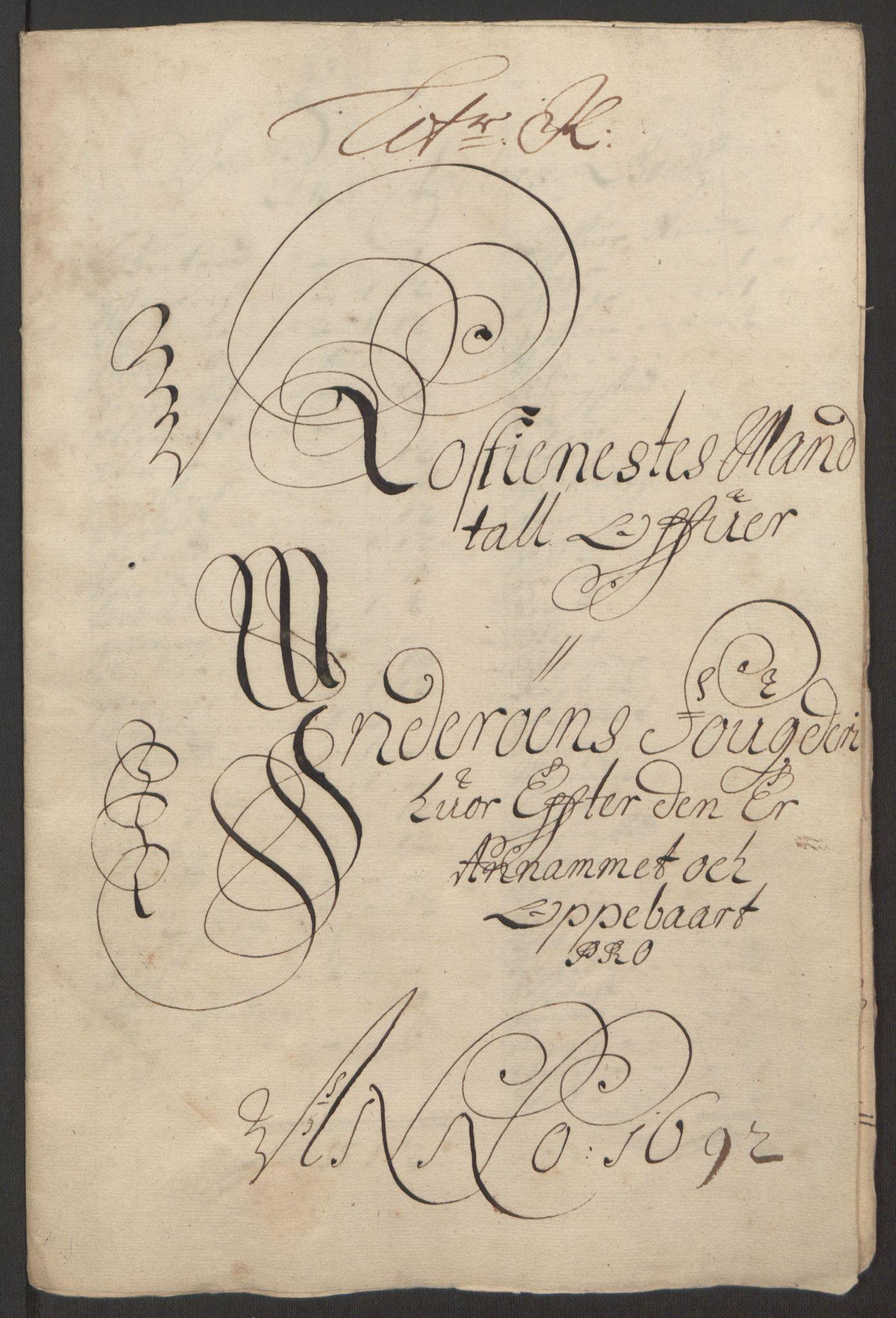 RA, Rentekammeret inntil 1814, Reviderte regnskaper, Fogderegnskap, R63/L4308: Fogderegnskap Inderøy, 1692-1694, s. 152
