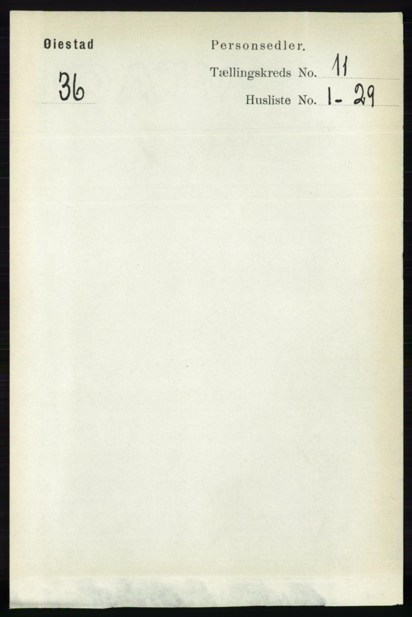 RA, Folketelling 1891 for 0920 Øyestad herred, 1891, s. 4811