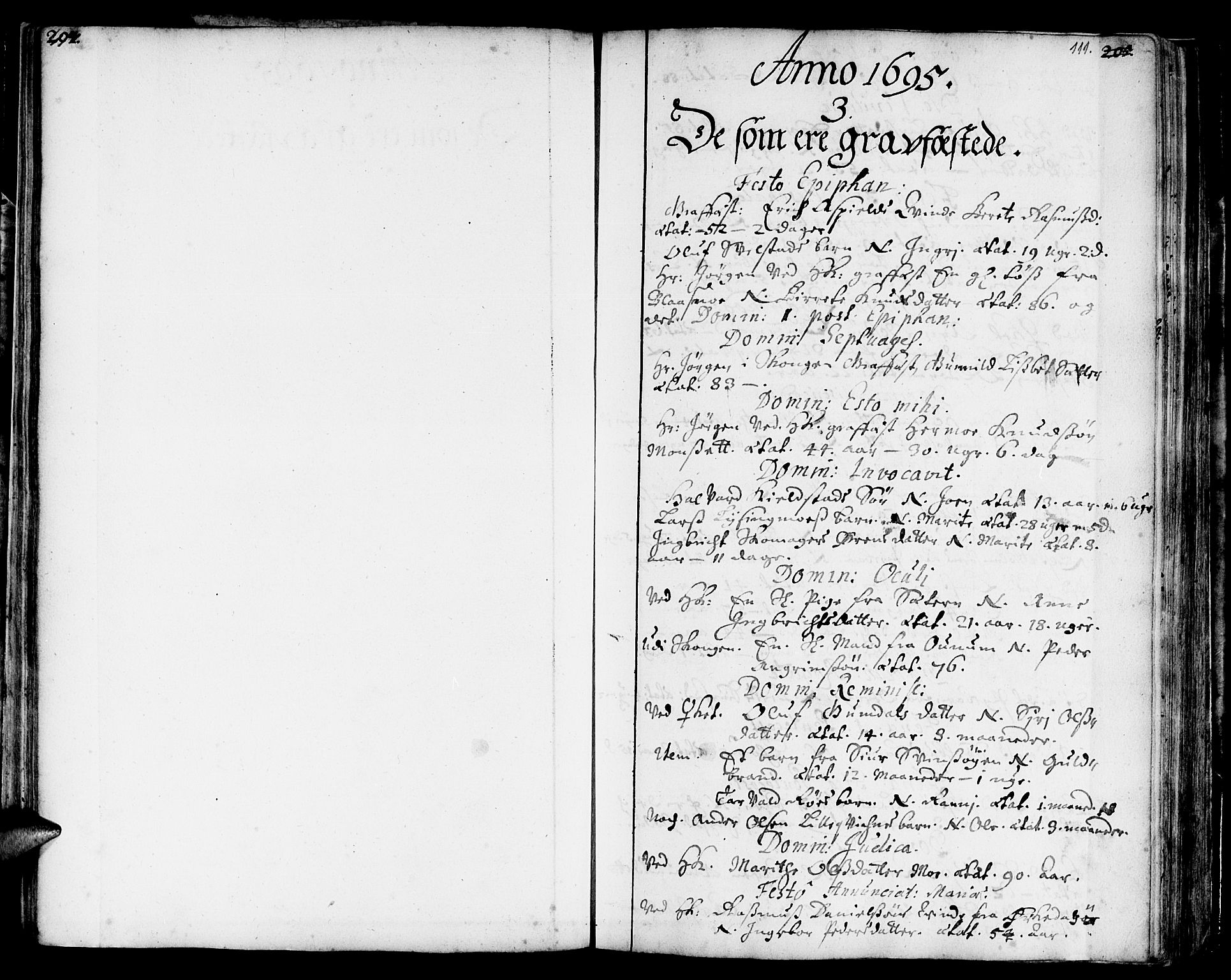 SAT, Ministerialprotokoller, klokkerbøker og fødselsregistre - Sør-Trøndelag, 668/L0801: Ministerialbok nr. 668A01, 1695-1716, s. 110-111