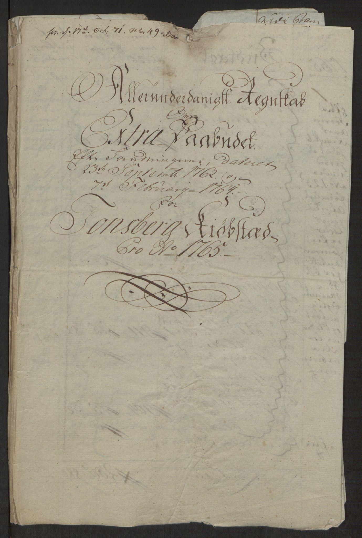 RA, Rentekammeret inntil 1814, Reviderte regnskaper, Byregnskaper, R/Rh/L0162: [H4] Kontribusjonsregnskap, 1762-1772, s. 179