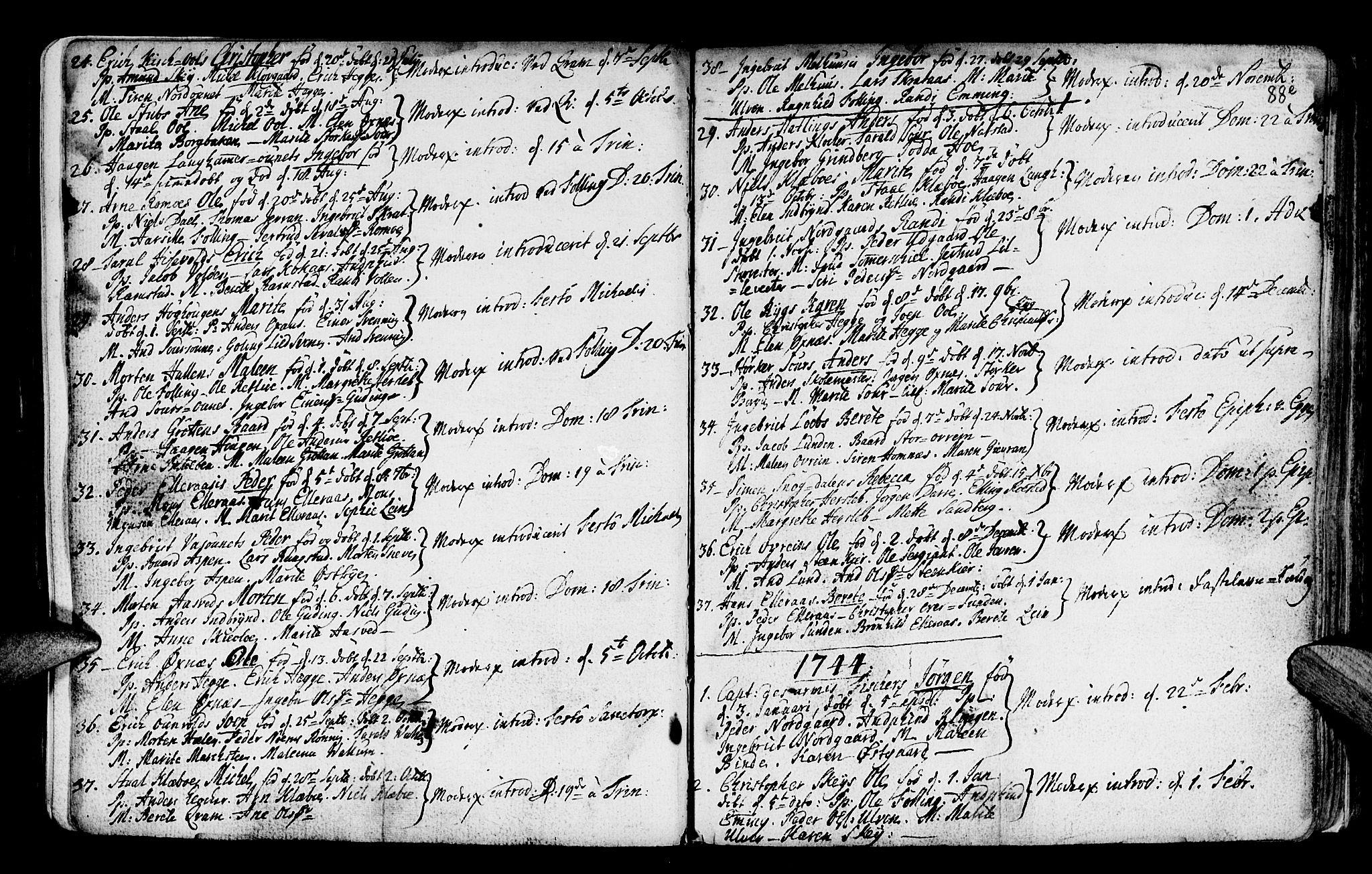 SAT, Ministerialprotokoller, klokkerbøker og fødselsregistre - Nord-Trøndelag, 746/L0439: Ministerialbok nr. 746A01, 1688-1759, s. 88f