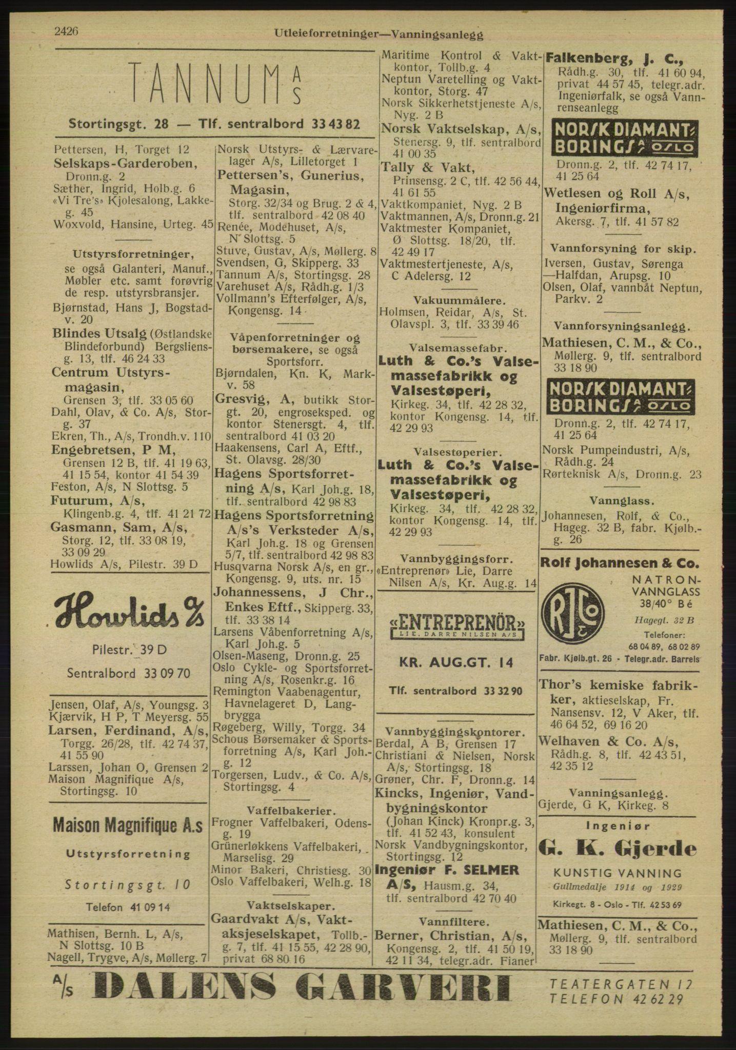 RA, Oslo adressebok (publikasjon)*, 1947, s. 2426