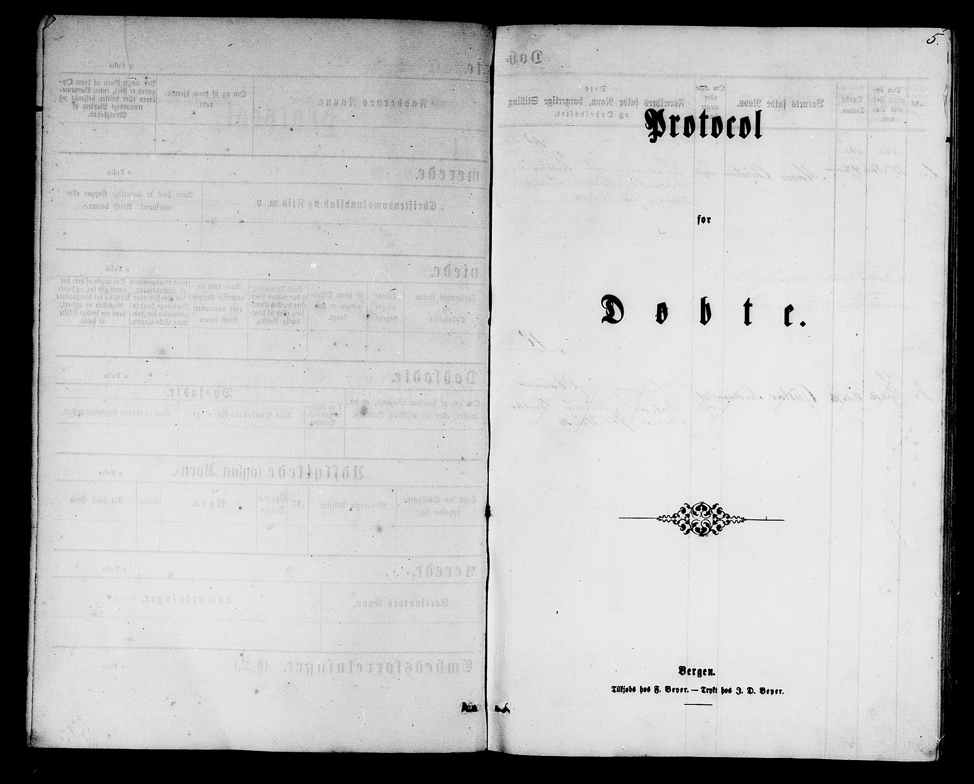 SAB, Mariakirken Sokneprestembete, H/Hab/L0003: Klokkerbok nr. A 3, 1862-1877, s. 5