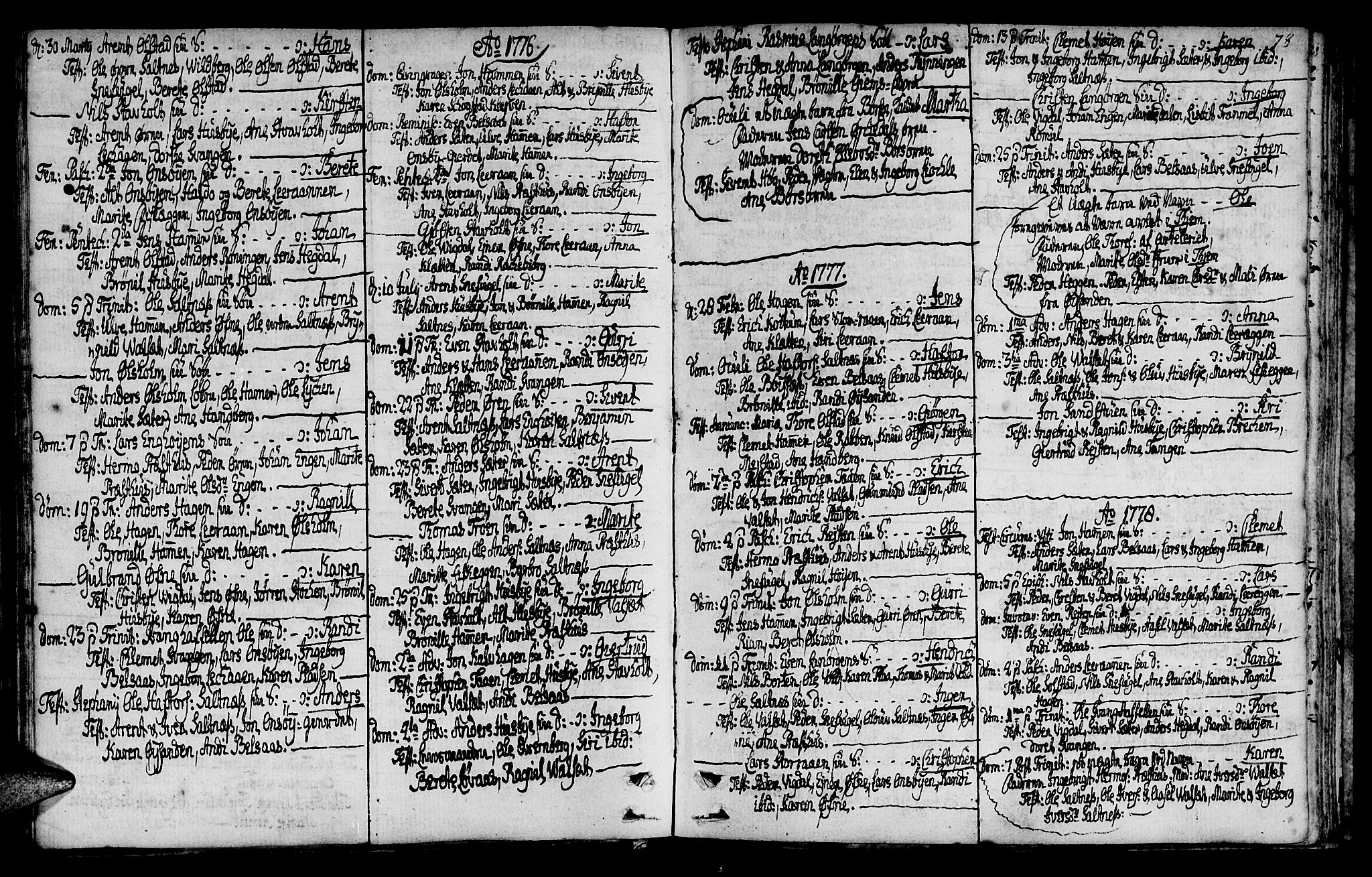 SAT, Ministerialprotokoller, klokkerbøker og fødselsregistre - Sør-Trøndelag, 666/L0784: Ministerialbok nr. 666A02, 1754-1802, s. 78