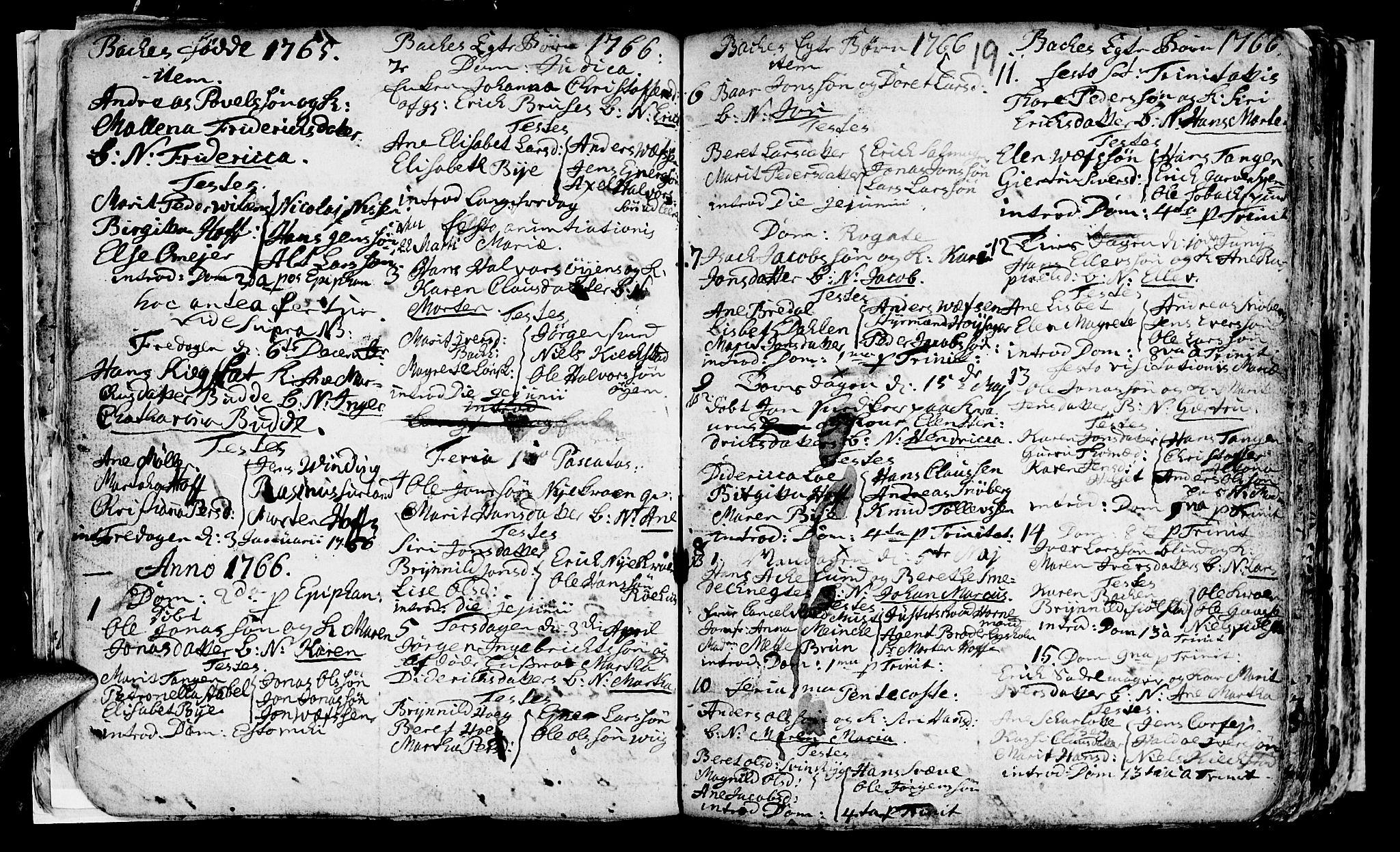 SAT, Ministerialprotokoller, klokkerbøker og fødselsregistre - Sør-Trøndelag, 604/L0218: Klokkerbok nr. 604C01, 1754-1819, s. 19