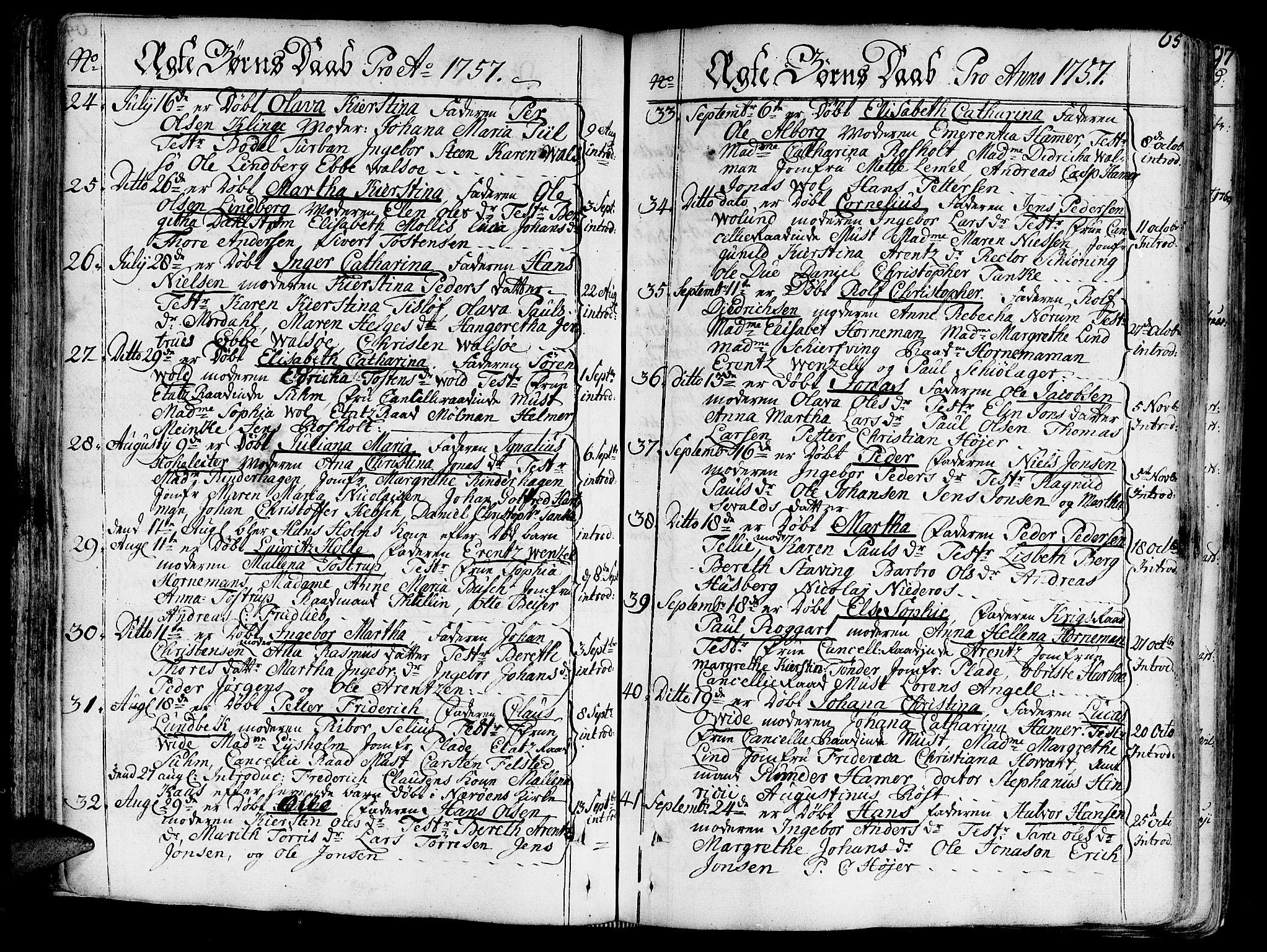 SAT, Ministerialprotokoller, klokkerbøker og fødselsregistre - Sør-Trøndelag, 602/L0103: Ministerialbok nr. 602A01, 1732-1774, s. 65