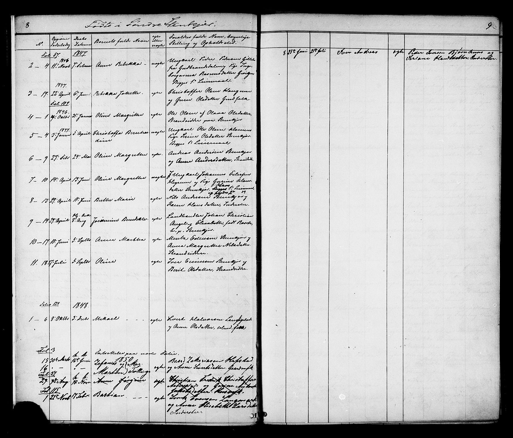 SAT, Ministerialprotokoller, klokkerbøker og fødselsregistre - Nord-Trøndelag, 739/L0367: Ministerialbok nr. 739A01 /1, 1838-1868, s. 8-9