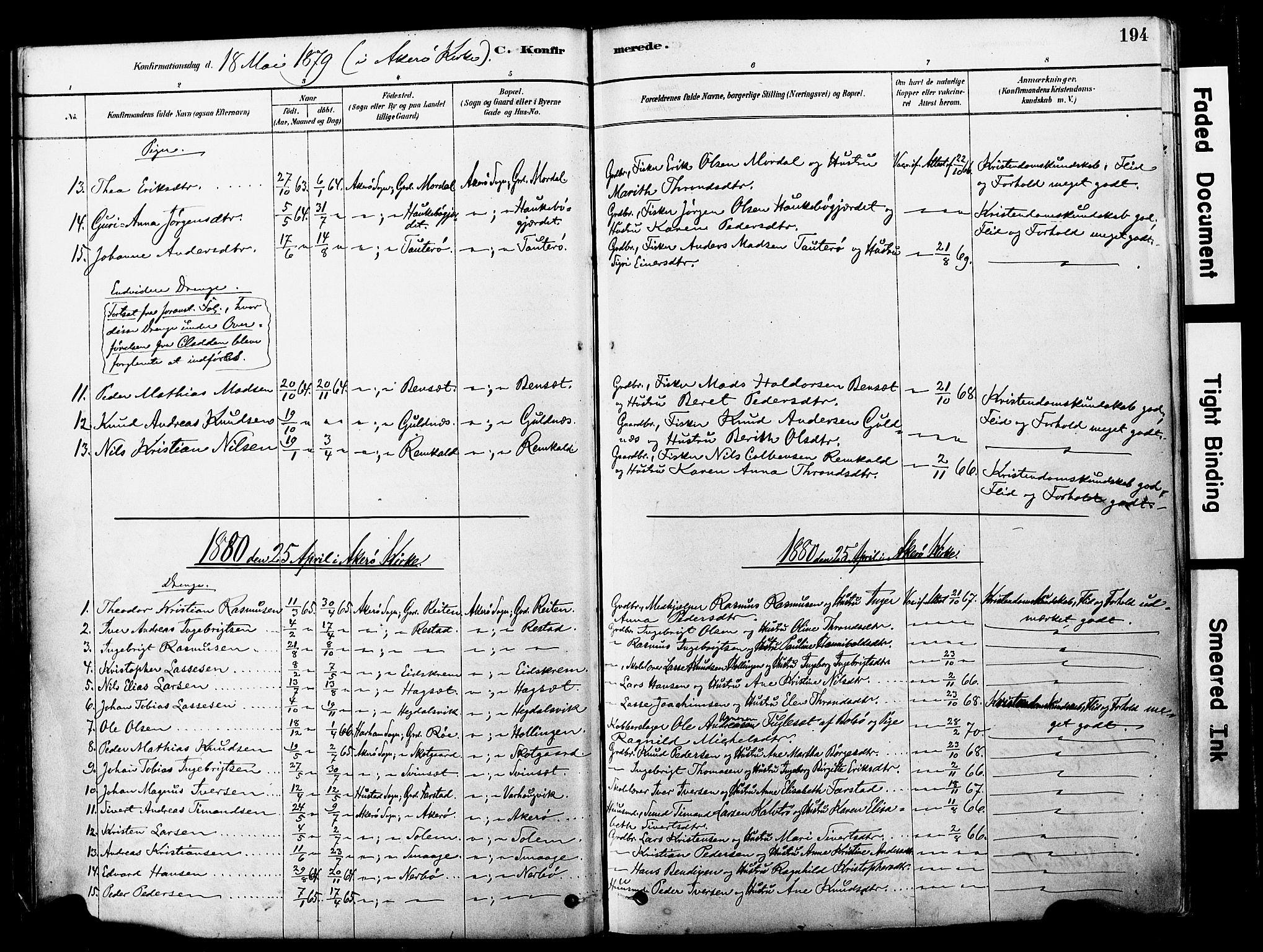 SAT, Ministerialprotokoller, klokkerbøker og fødselsregistre - Møre og Romsdal, 560/L0721: Ministerialbok nr. 560A05, 1878-1917, s. 194