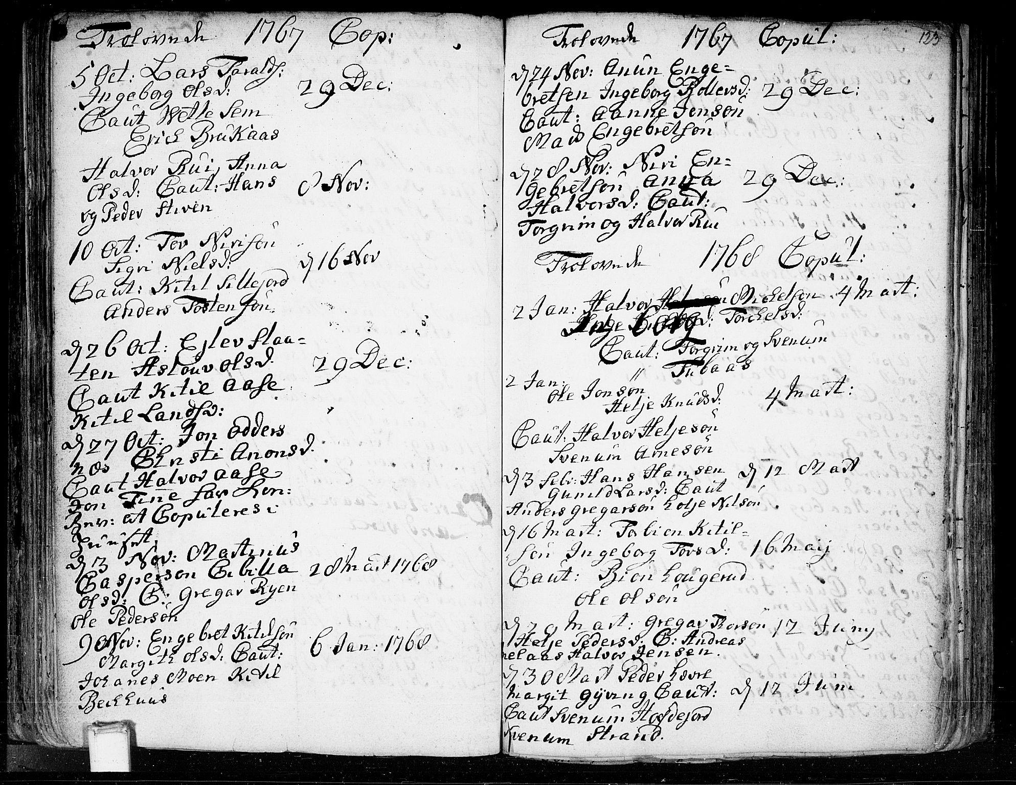 SAKO, Heddal kirkebøker, F/Fa/L0003: Ministerialbok nr. I 3, 1723-1783, s. 123